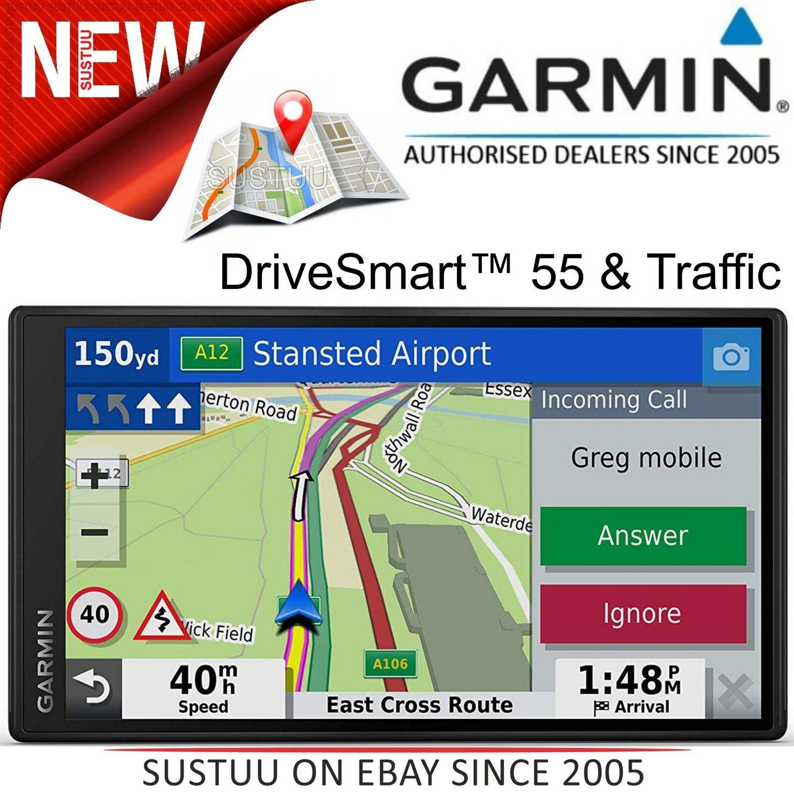 "Garmin drivesmart 51 LMT-D 5/"" SAT NAV Mapas Y Tráfico De Por Vida UK"