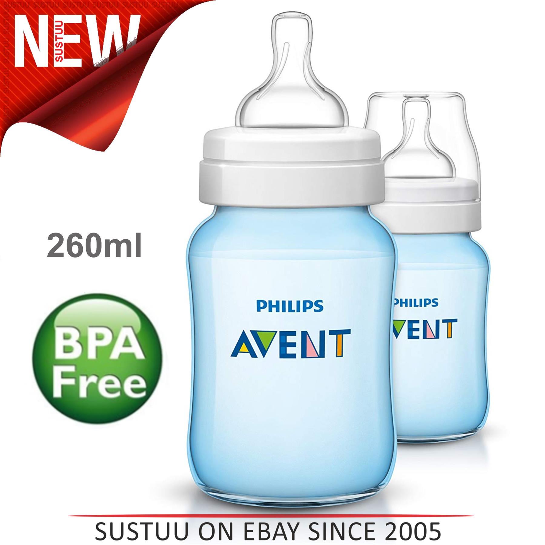 Philips AVENT Anti Colic Flasche 260ml Doppelpackung Rosa oder Blau *Neu*