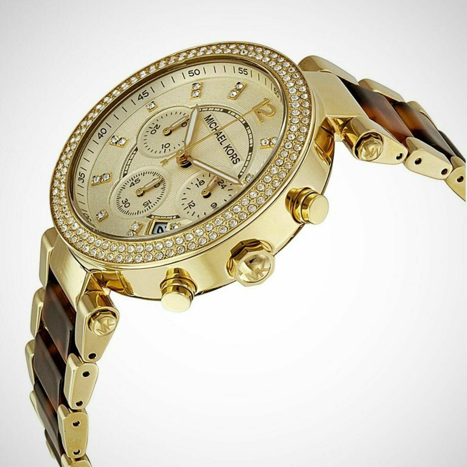 Detalles de Michael Kors Parker Mujer Reloj MK5688º Cronógrafo Dial º Acero Inoxidable Tira
