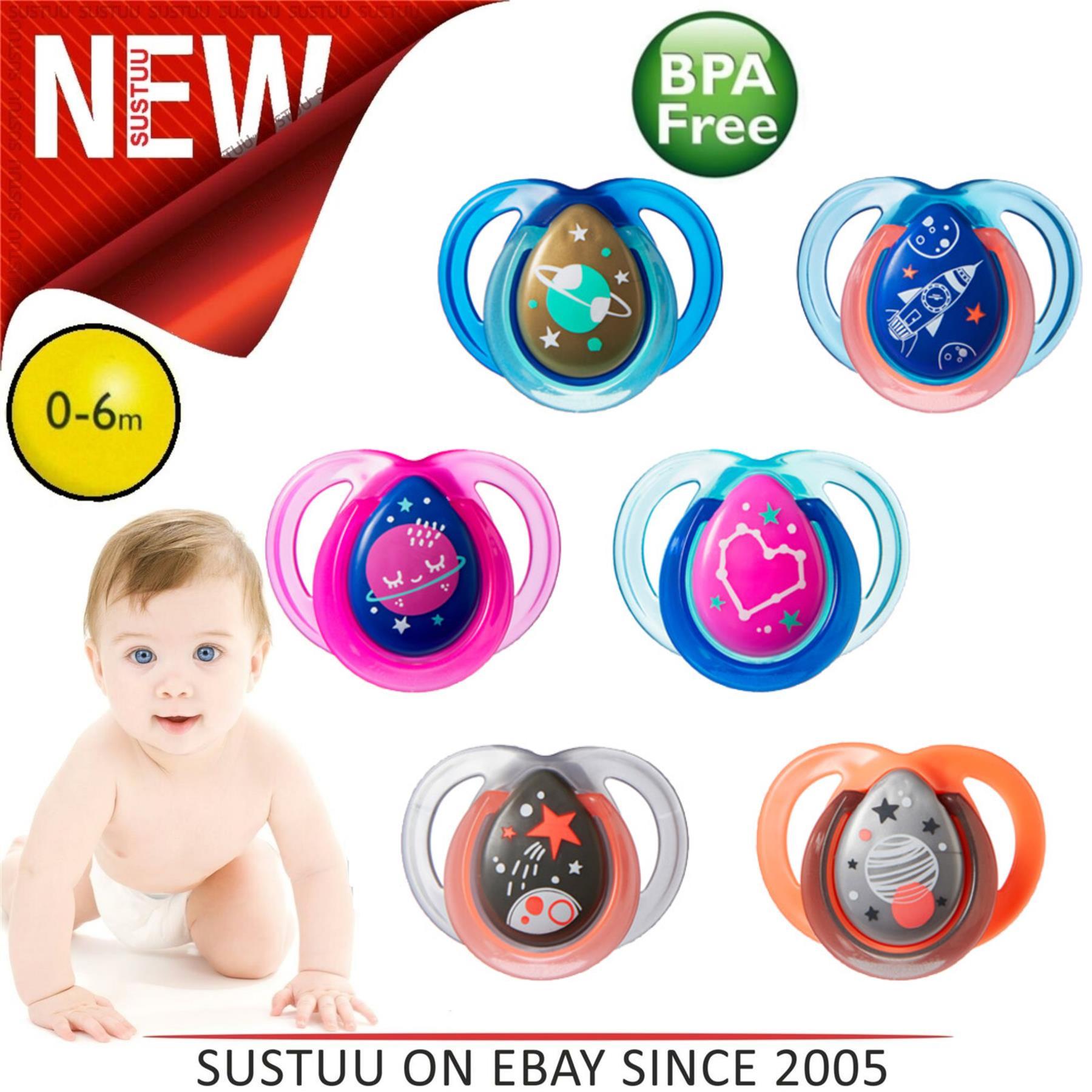 Sans BPA 0-6 mois T/étine R/éversible Rose Tommee Tippee Sucette Little London