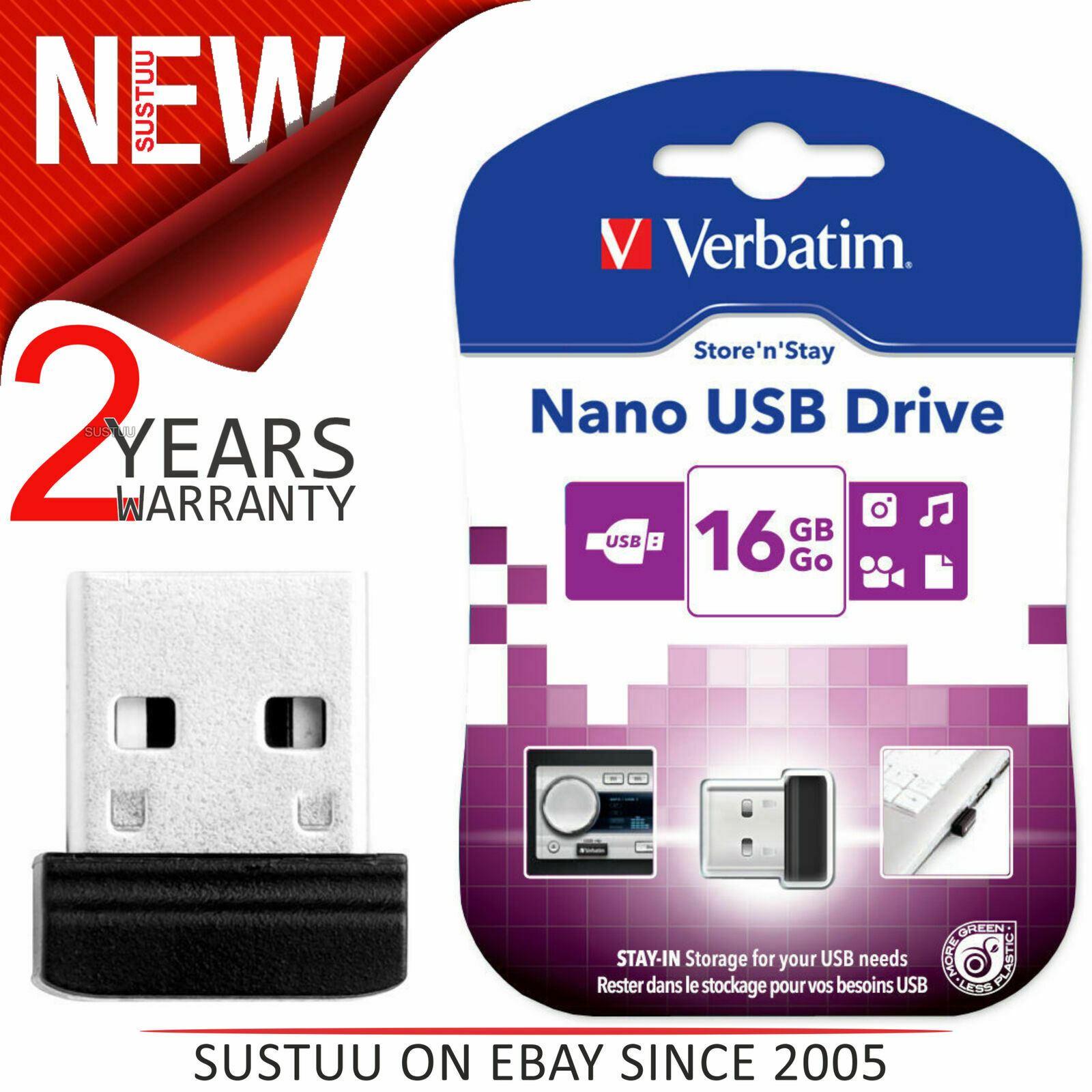 Clef usb 16go Verbatim cle usb 16 go Store N/'Stay Nano slim mini USB 2.0