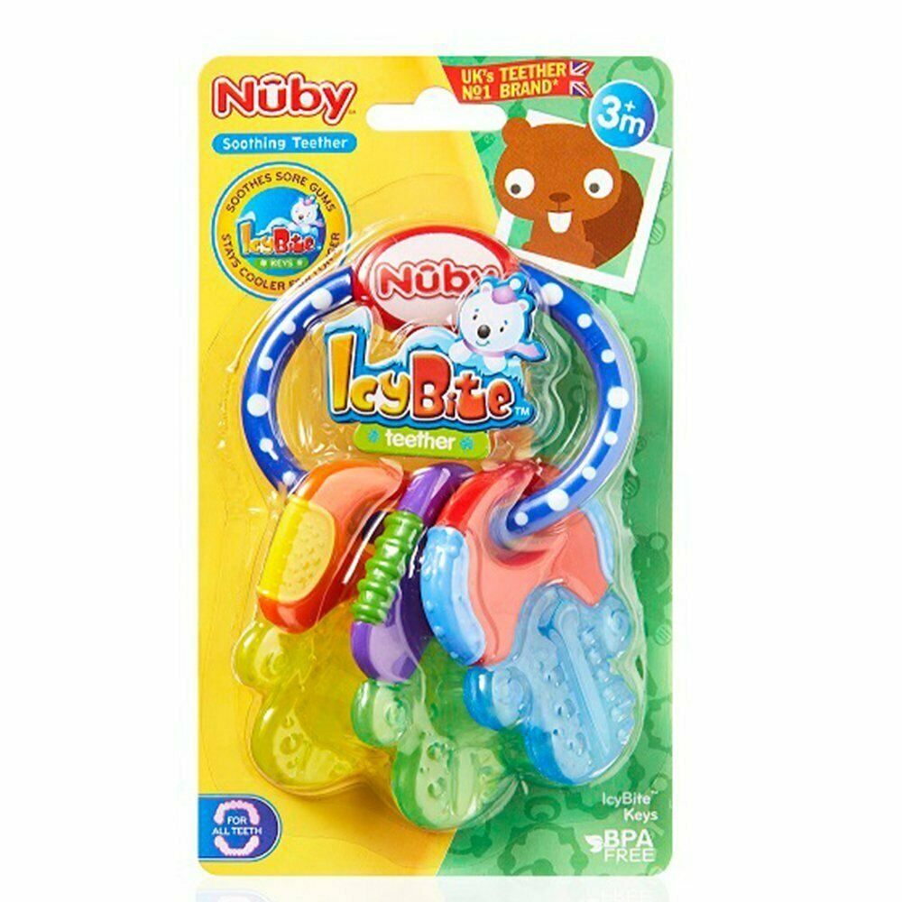 NUBY BABY NONTOXIC COMFORTER ICY BITE KEYS PACIFIC EARLY TEETHING TEETHER TOYS