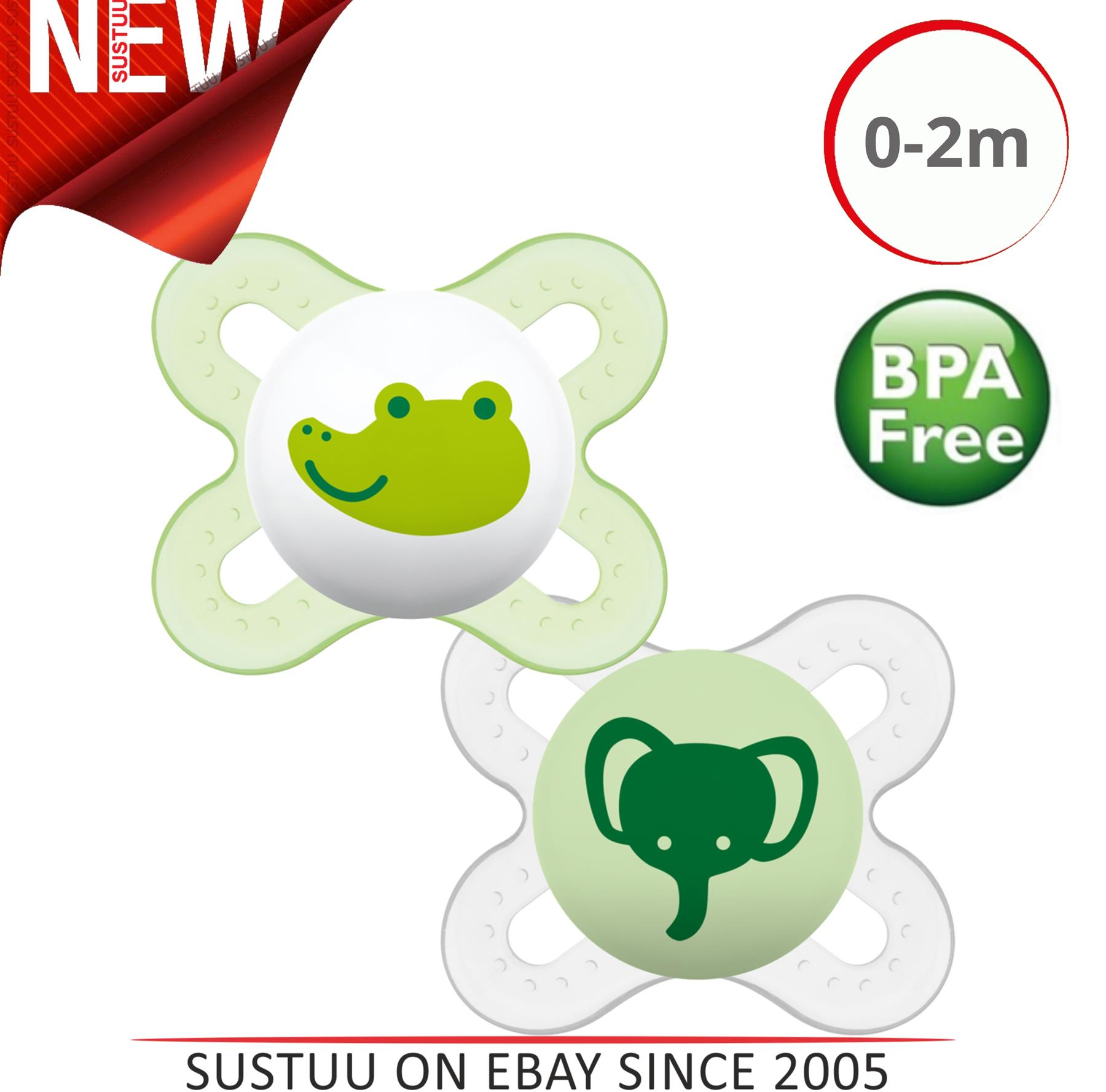 ALL TEATS /& SIZES AVENT TOMMEE TIPPEE MAM MOUSE EARS BOY PERSONALISED DUMMY