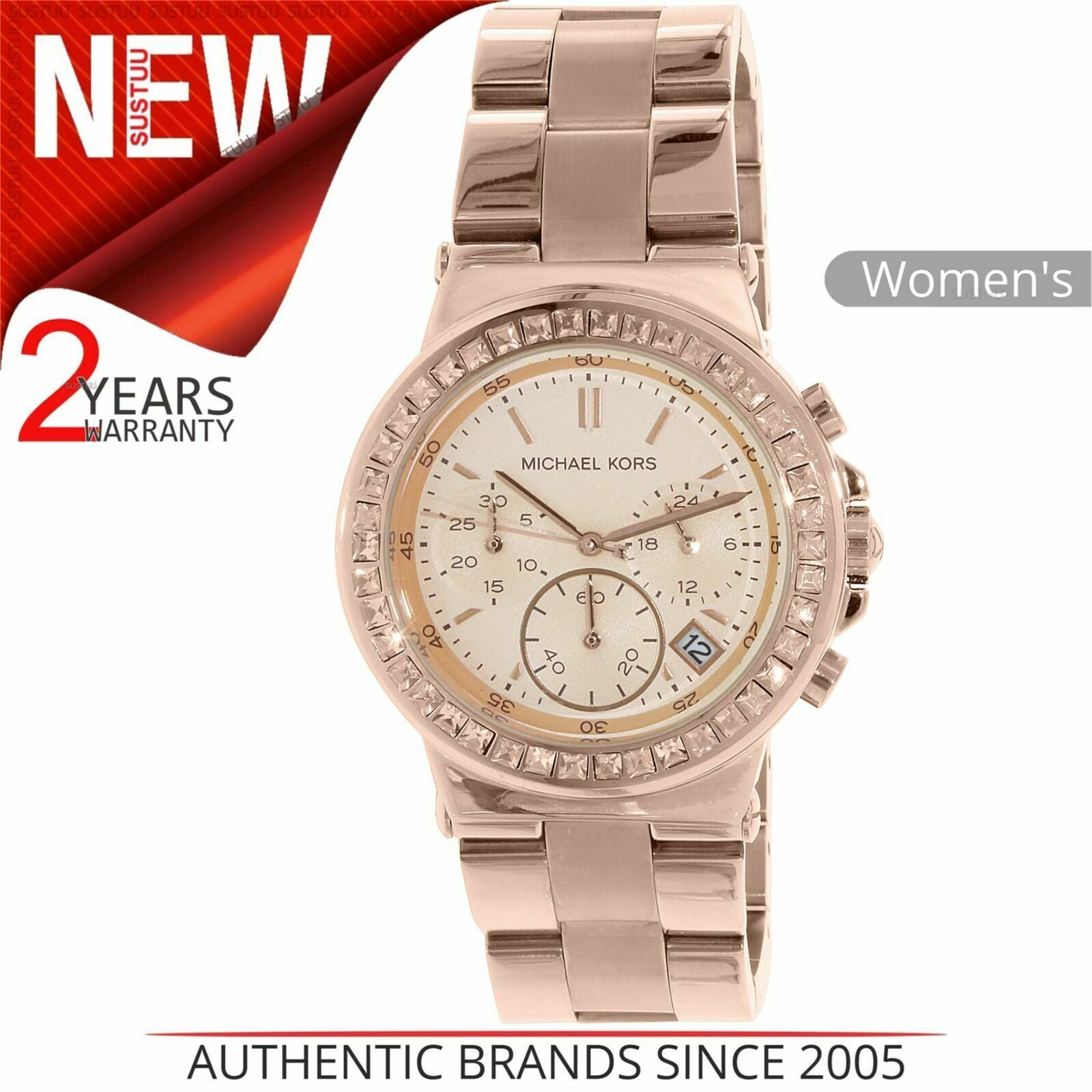 Details about Michael Kors Dylan Ladie's Watch¦Chronograph Dial¦Stainless Steel Band¦MK5586
