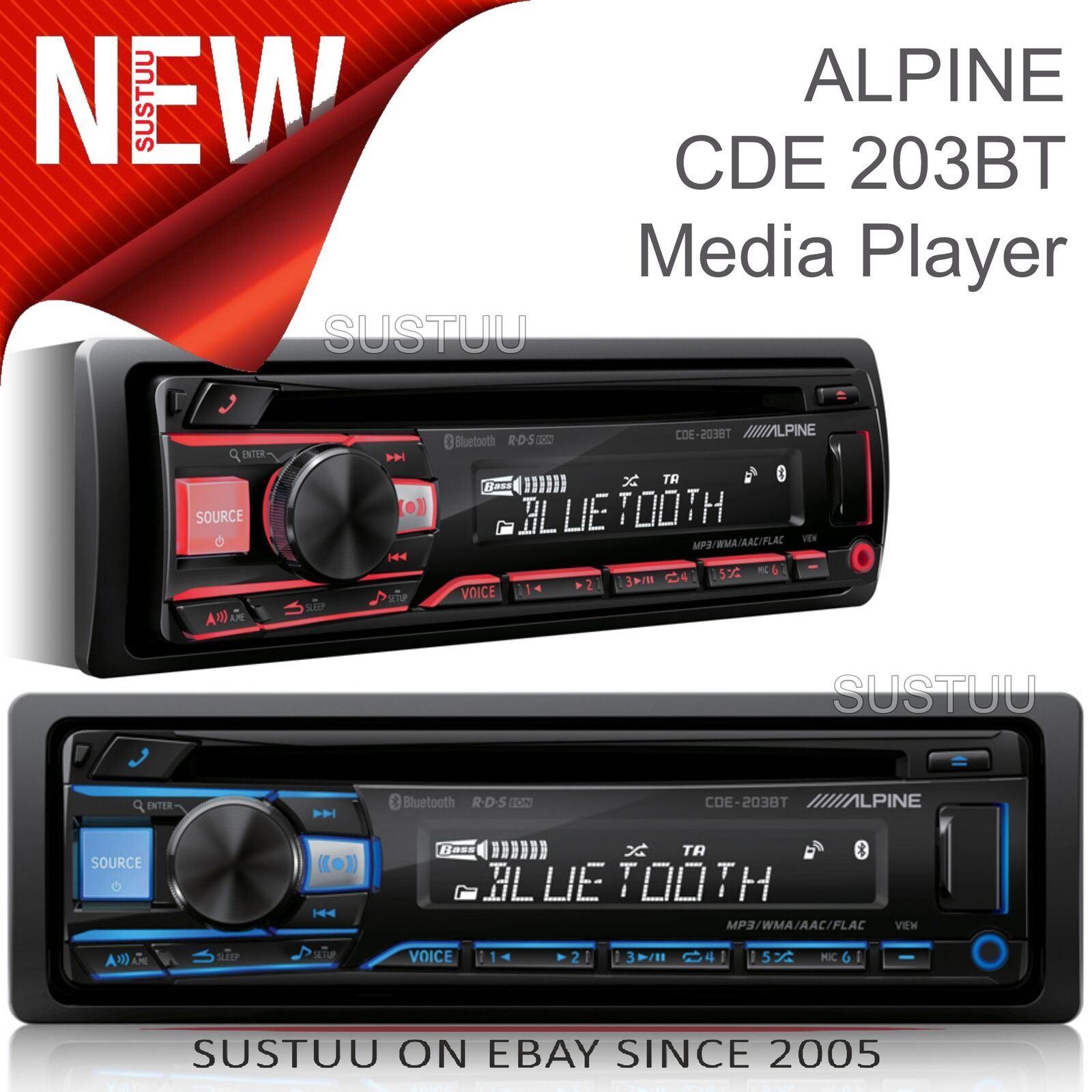 ALPINE AUTORADIO CDE 203 BT RICEVITORE CD//USB CON BLUETOOTH