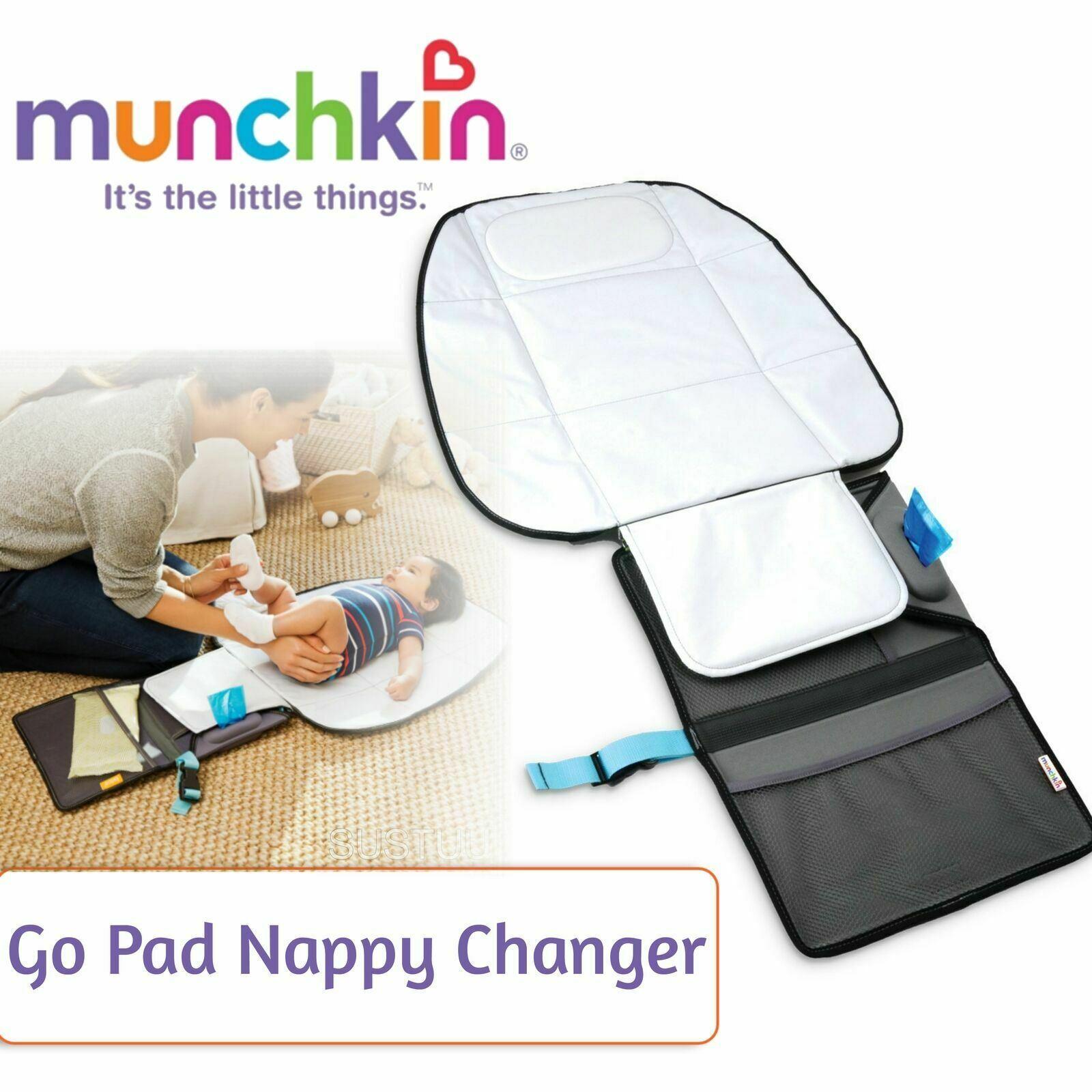 NEW MUNCHKIN BABY TODDLER GO PAD NAPPY CHANGER ORGANISER