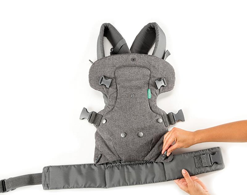 Infantino Flip Advanced 4-in-1 Convertible Baby Carrier│Baby Holder//Pouch│Grey