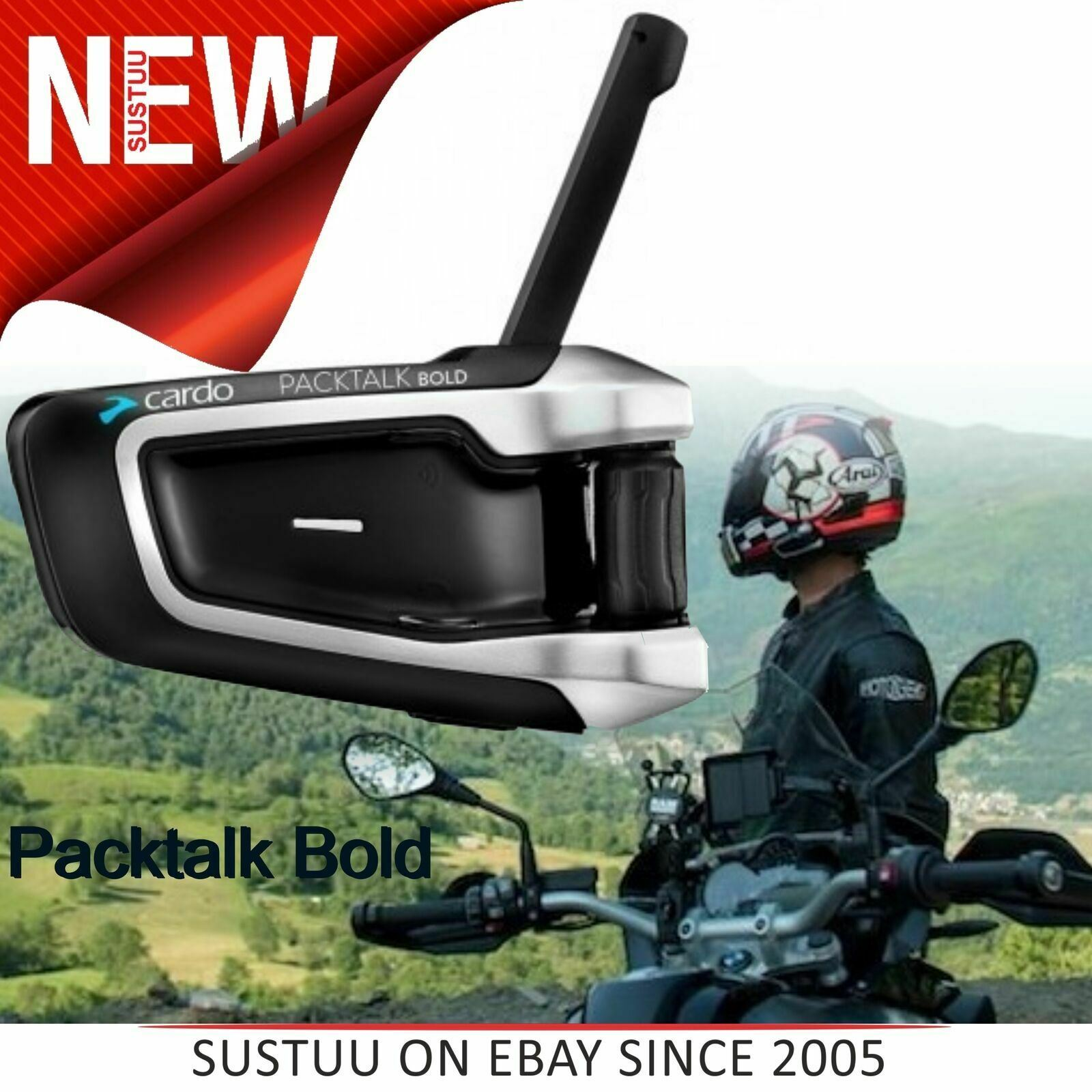 Cardo Scala Rider Q1 Solo Motorcycle Bluetooth