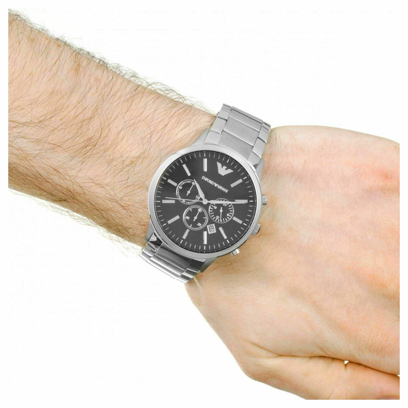Emporio Armani Sportivo Chronograph Black Dial Steel Men's Watch AR2460