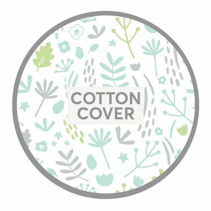 /Almohada para maternidad y lactancia funda de almohada Floral Cotton Grey//White Dreamgenii/