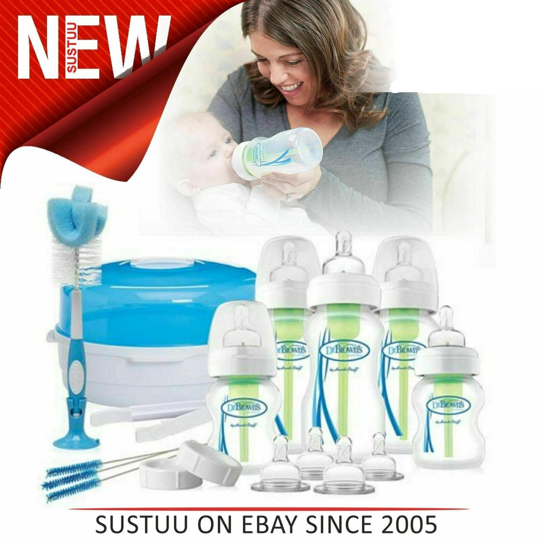 Dr Browns Options Bottle /& Steriliser Newborn Gift Set│Reduce Colic,Burping,Wind