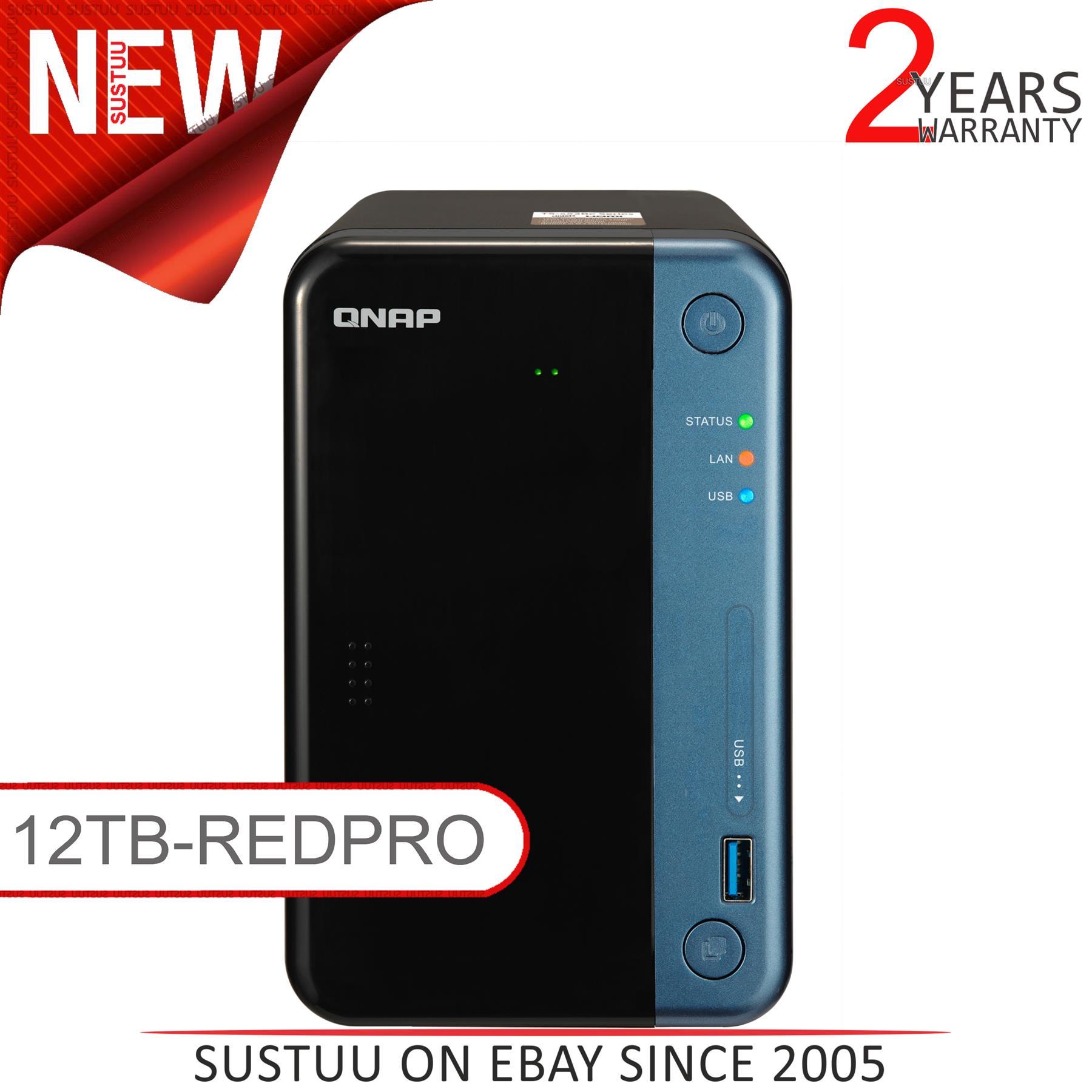 QNAP TS-453Be-2G 16TB 4 Bay Soluci/ón NAS de Escritorio Instalado con 4 x 4 TB Western Digital Red Drives