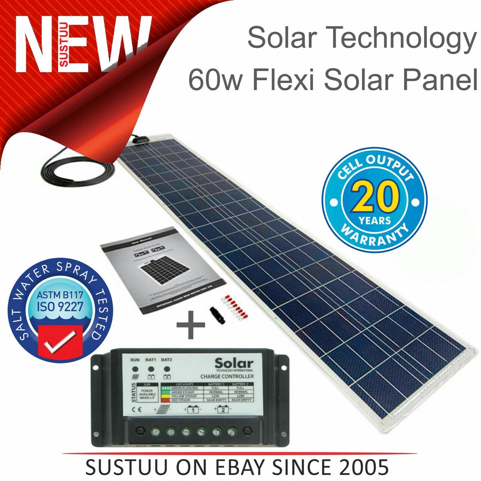Details zu Solar Technology PV Logic 60W Flexi Solar Panel Kit + 10Ah Controller│STPVF060MA