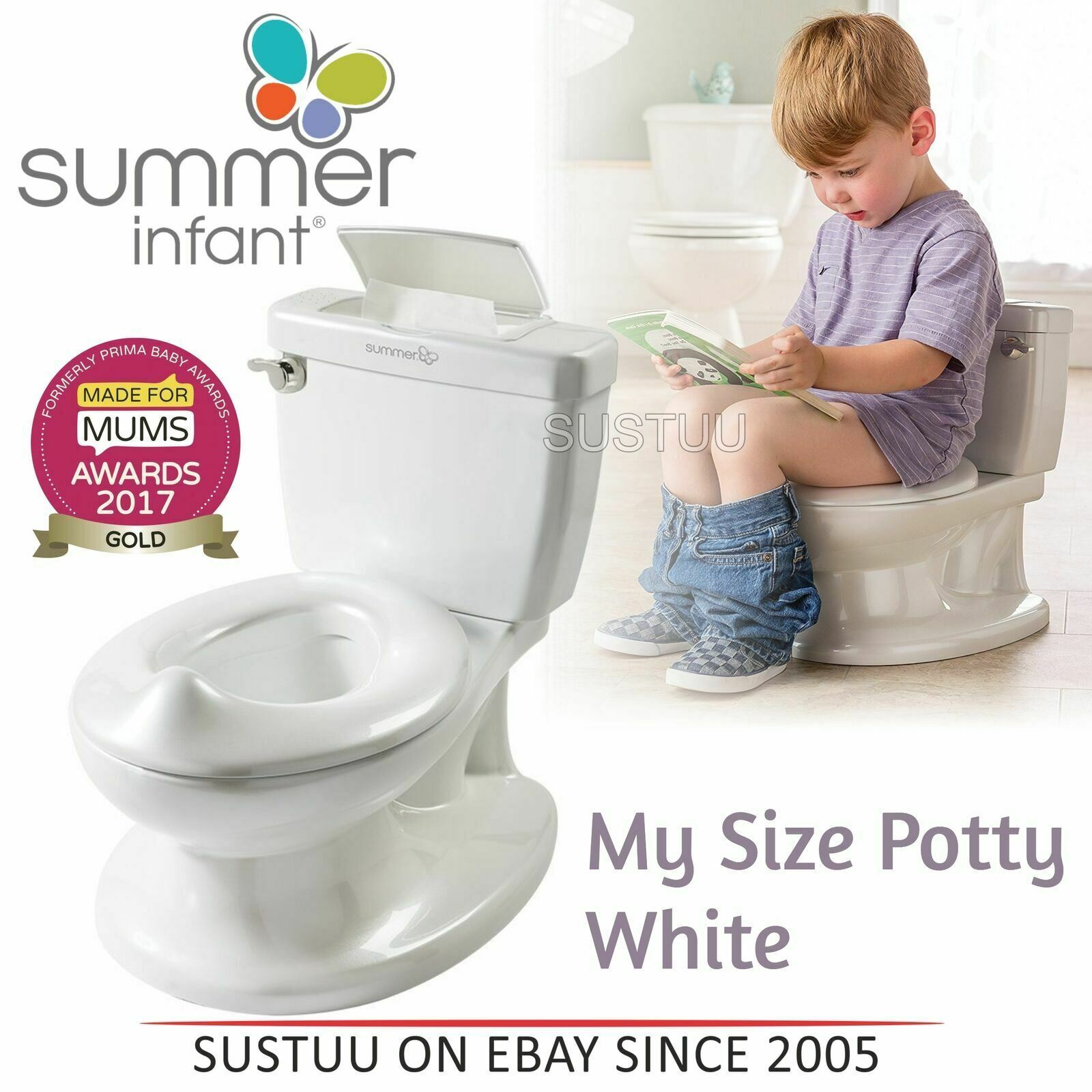 Toilet For Kids Infant Size Potty Removable Bowl Wipe Compartment Flip Up Seat