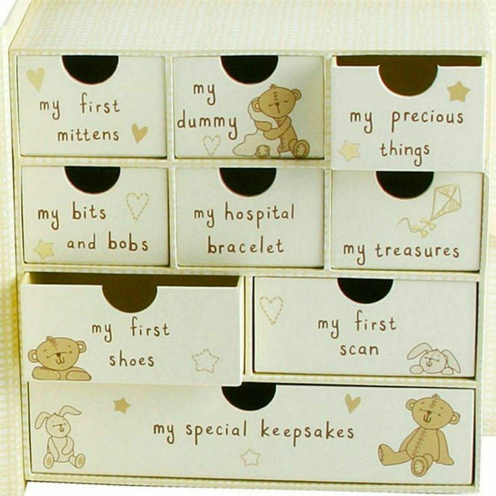 Botón Esquina Bebé Recuerdo Caja cg689