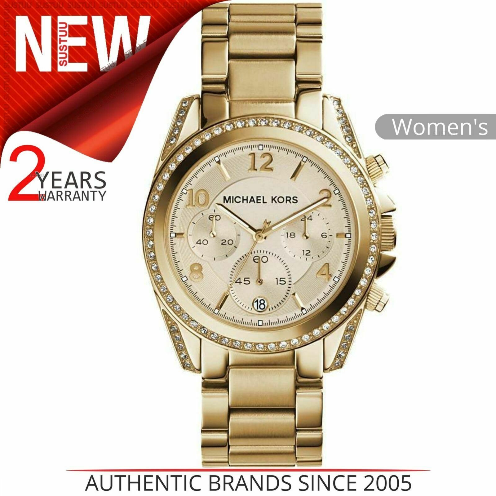 Details about Michael Kors Blair Ladies' Watch MK5166│Chronograph Dial│Gold Tone Bracelet Band