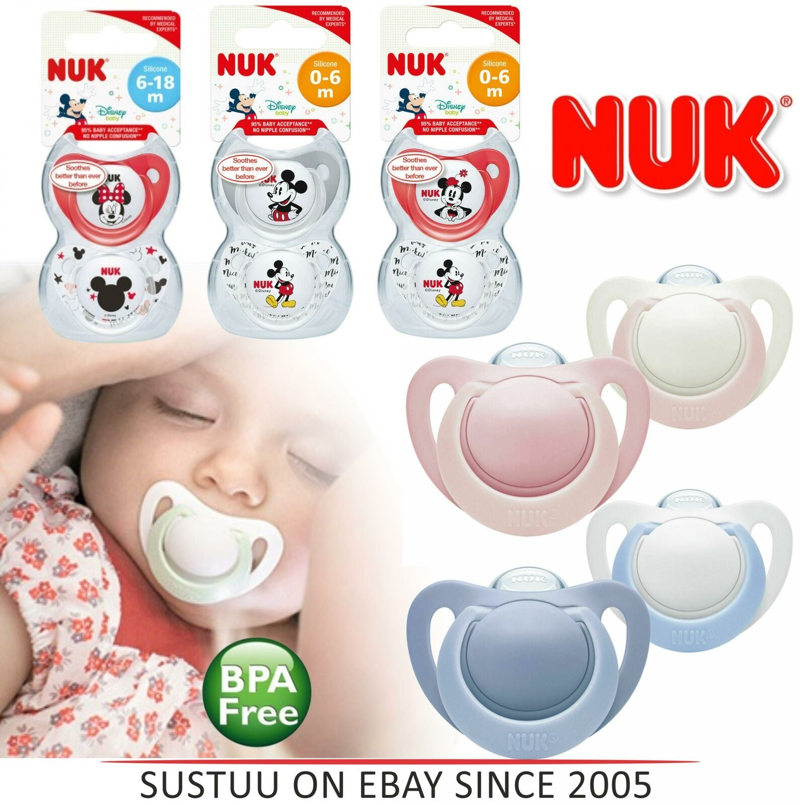 Nuk Baby All Soothers Pacifiers Clearence Stock