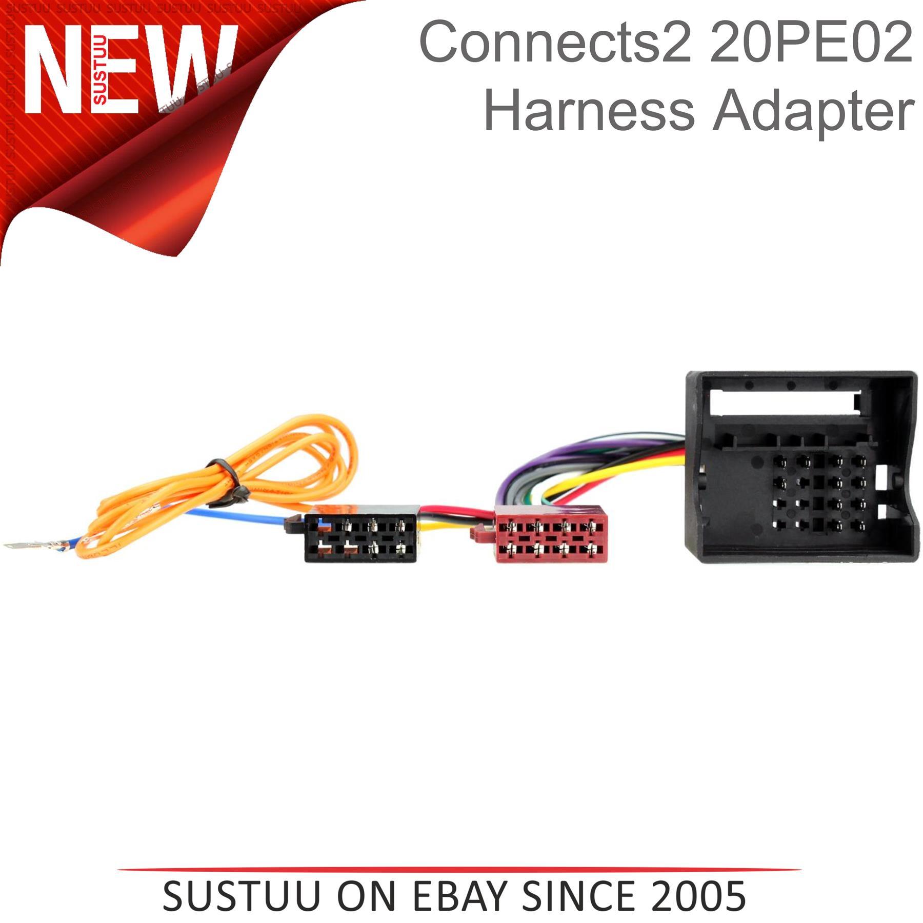 Compatible con Prology 20 Polos Radio Iso Din Coche Conector Del Cable Adaptador