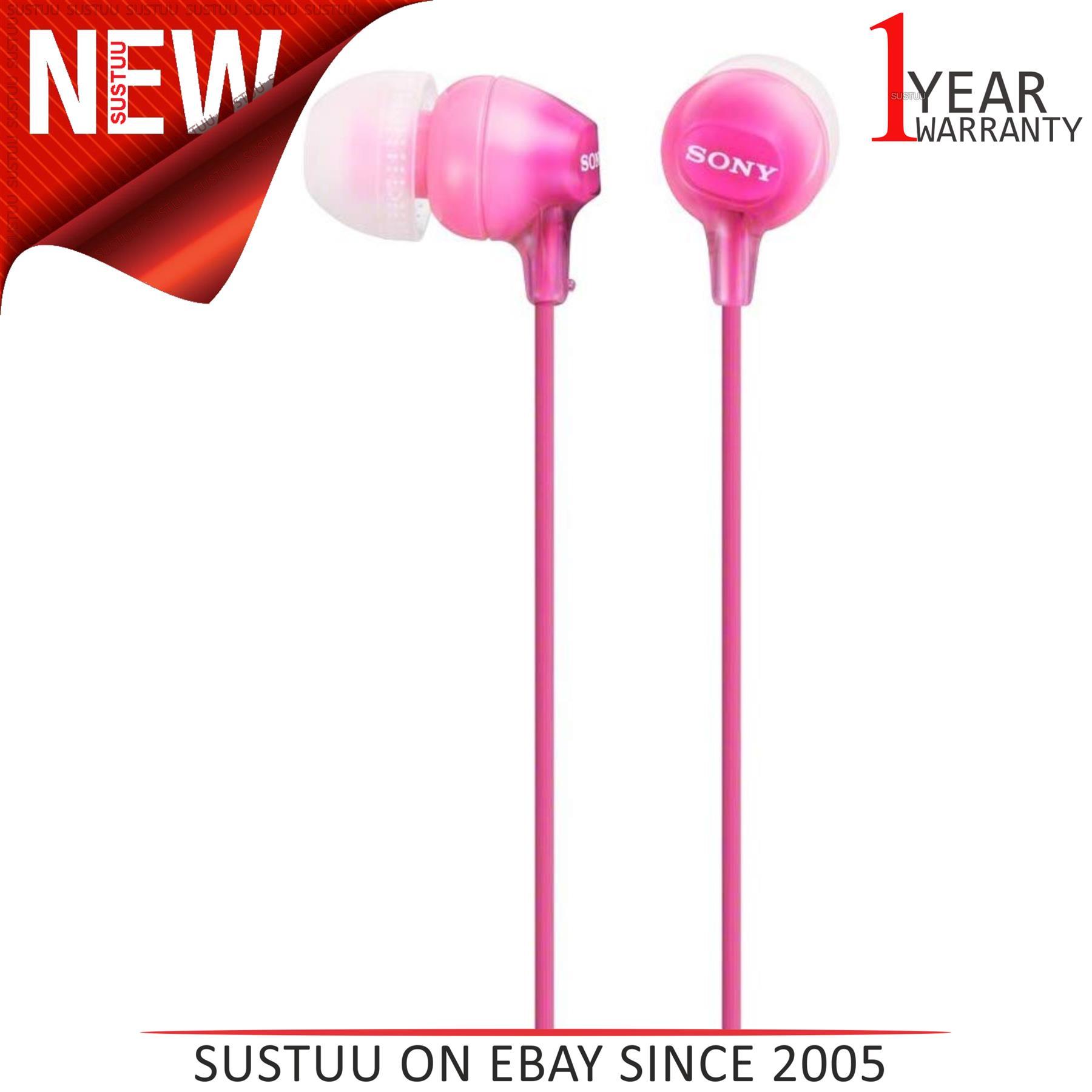 Sony Casque MDREX15LPPI In Ear Stéréo Écouteur │ Silicone