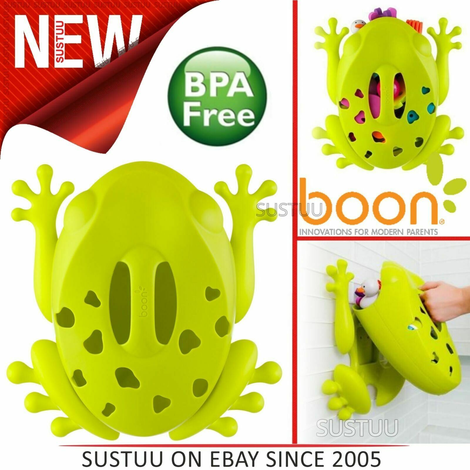 Green B10087 Boon Frog Pod Bath Toy Scoop