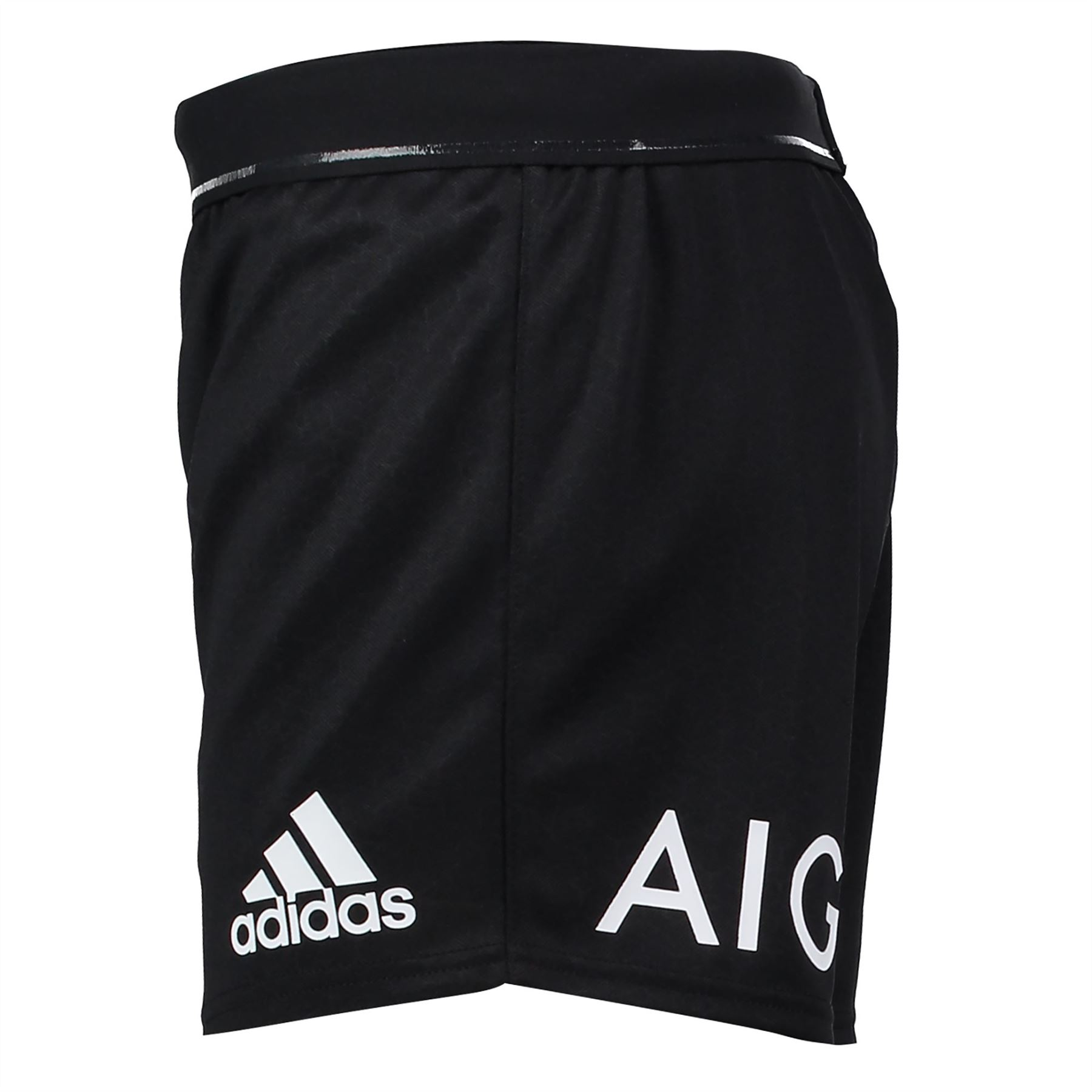 Adidas Rugby Home: Adidas Mens Gents Rugby New Zealand All Blacks Home Shorts