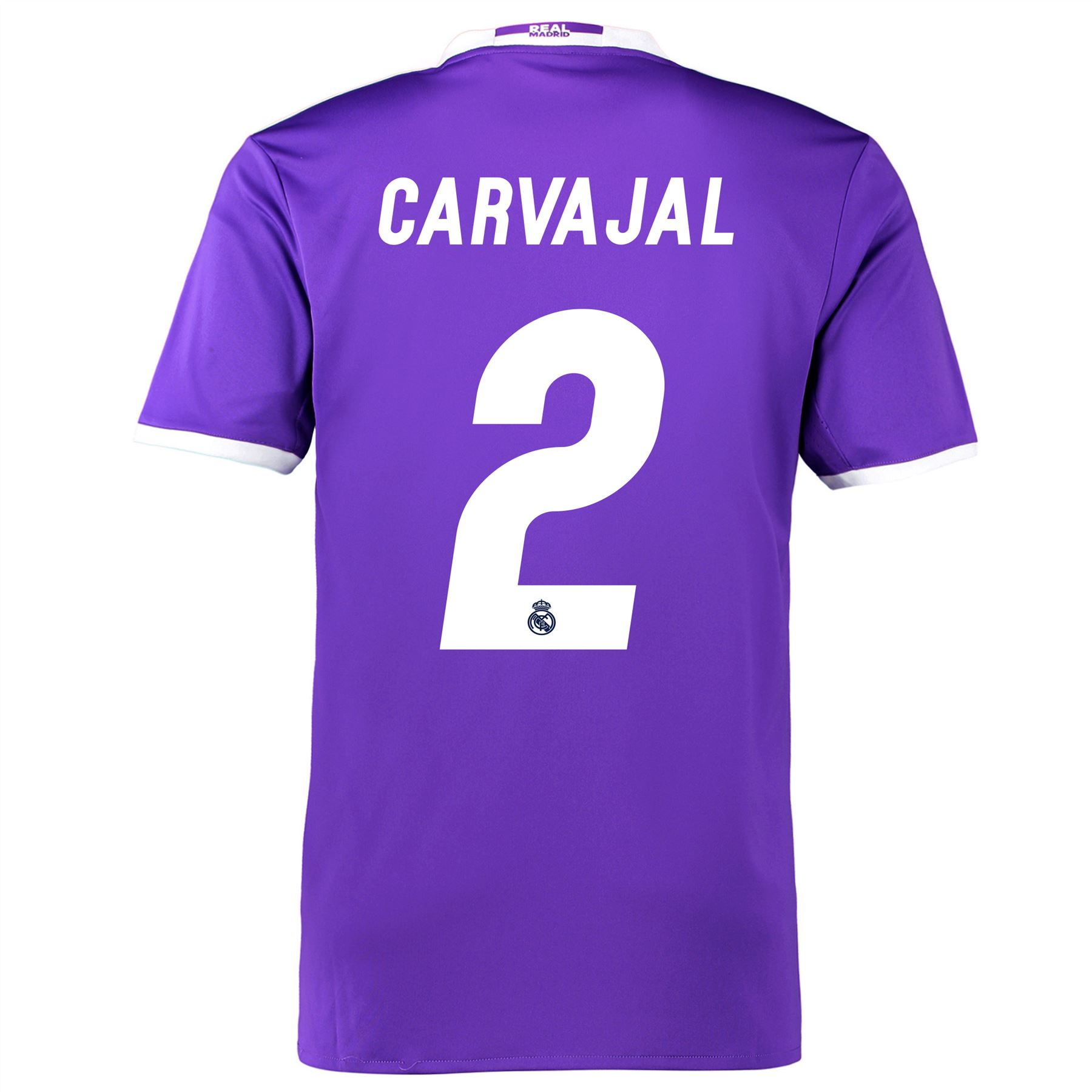 f9a86eed9ae real madrid 2 dani carvajal sec away short sleeve mens adults 2016 ...