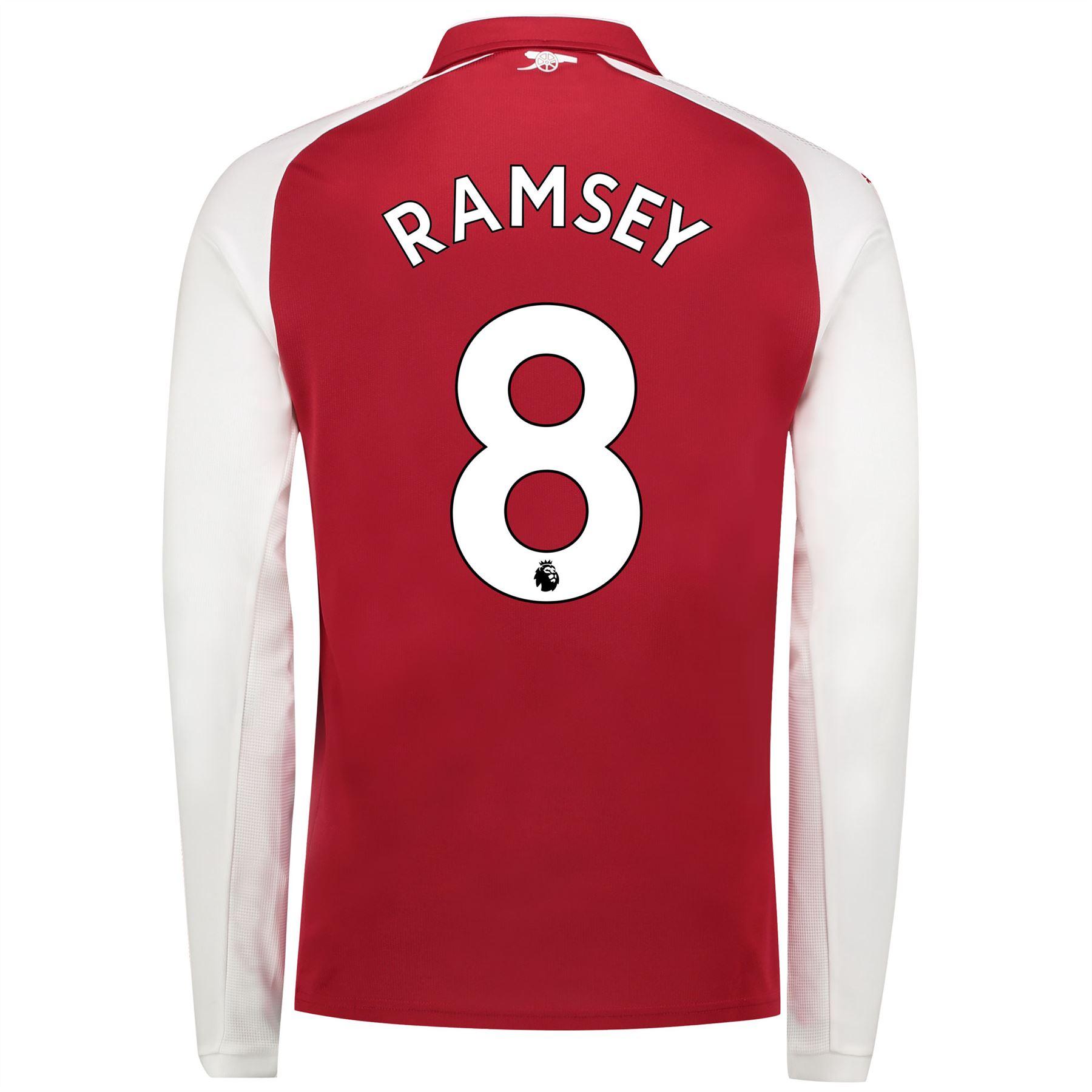Arsenal-Futbol-Home-Camiseta-2017-18-Manga-Larga-Hombre-Puma