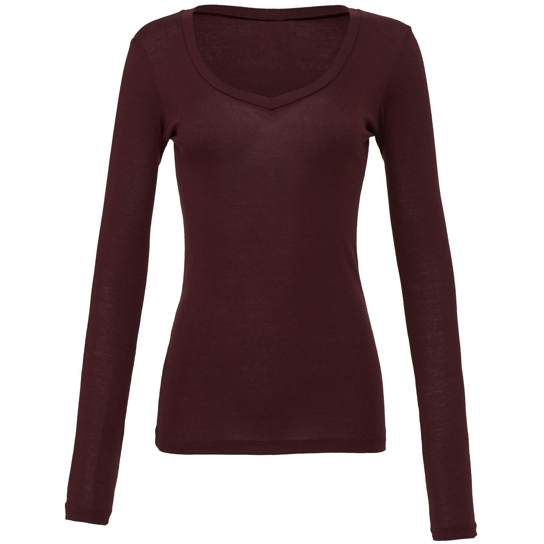 Bella-Canvas-Sheer-mini-rib-long-sleeve-v-neck-t-shirt
