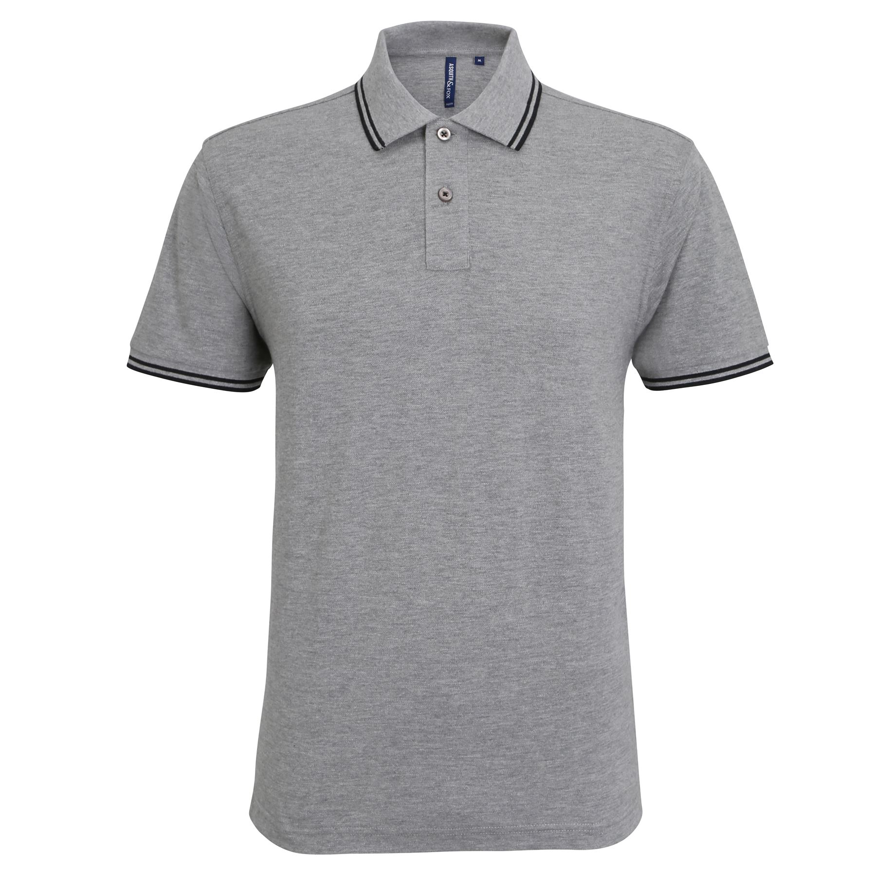 Asquith-amp-Fox-Men-039-s-Short-Sleeve-Classic-Fit-Tipped-Polo-Smart-Casual-Shirt