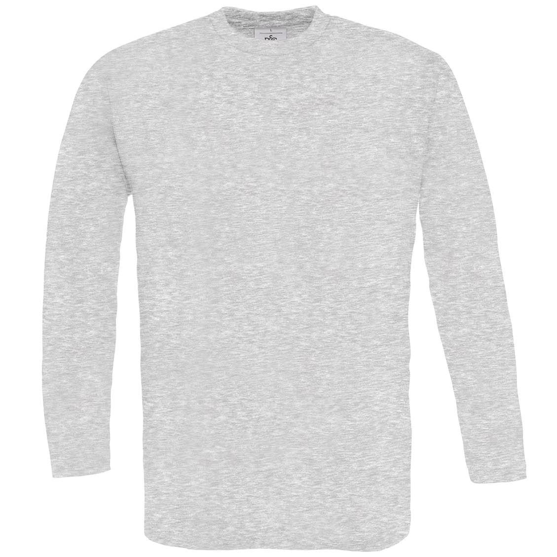 B-amp-c-Collection-exacta-de-hombre-150-Manga-Larga-Camiseta-TU003-Liso-Cuello-Redondo-Camiseta
