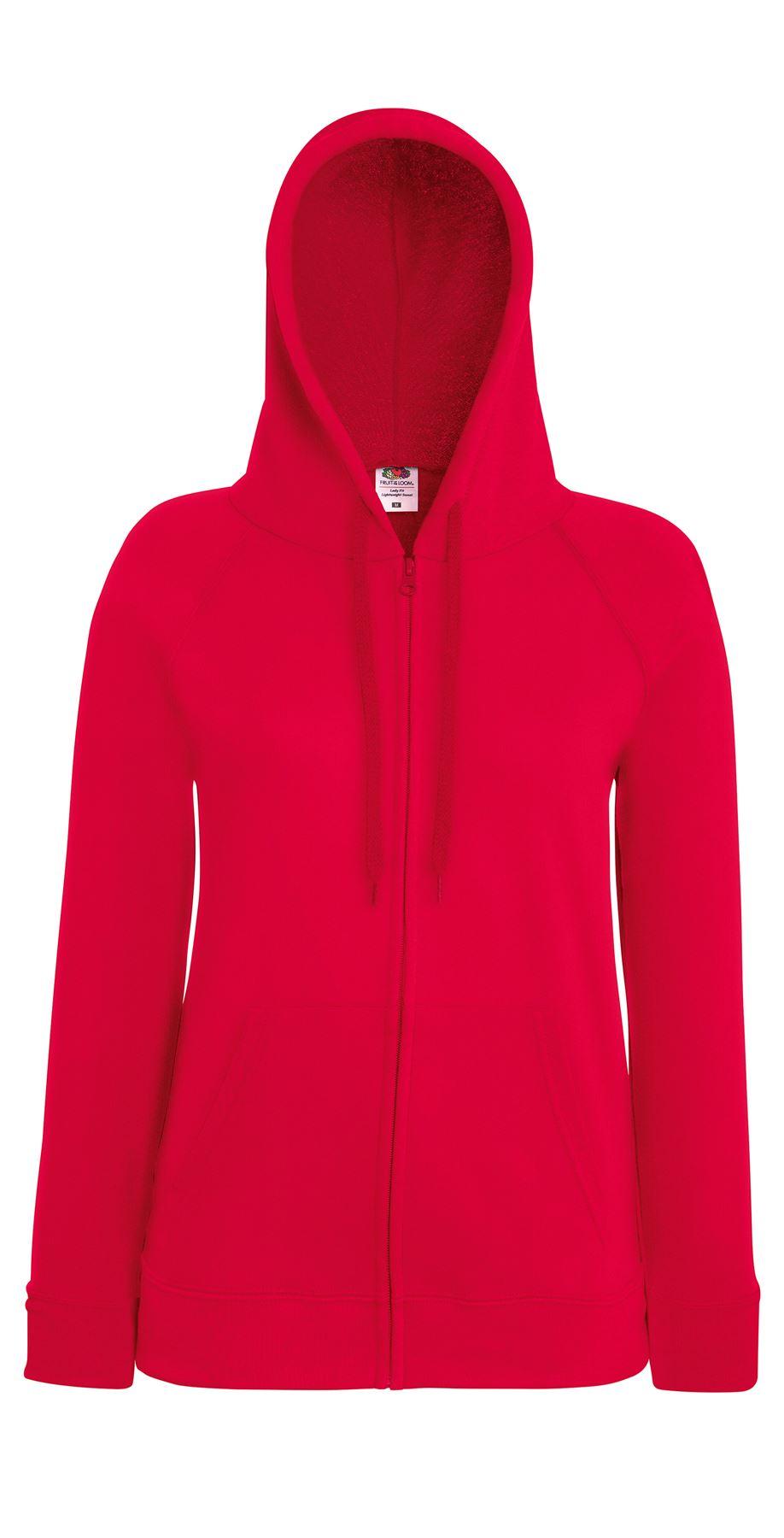 fruit of the loom fotl women 39 s lightweight hooded sweatshirt jacket zip hoodie ebay. Black Bedroom Furniture Sets. Home Design Ideas