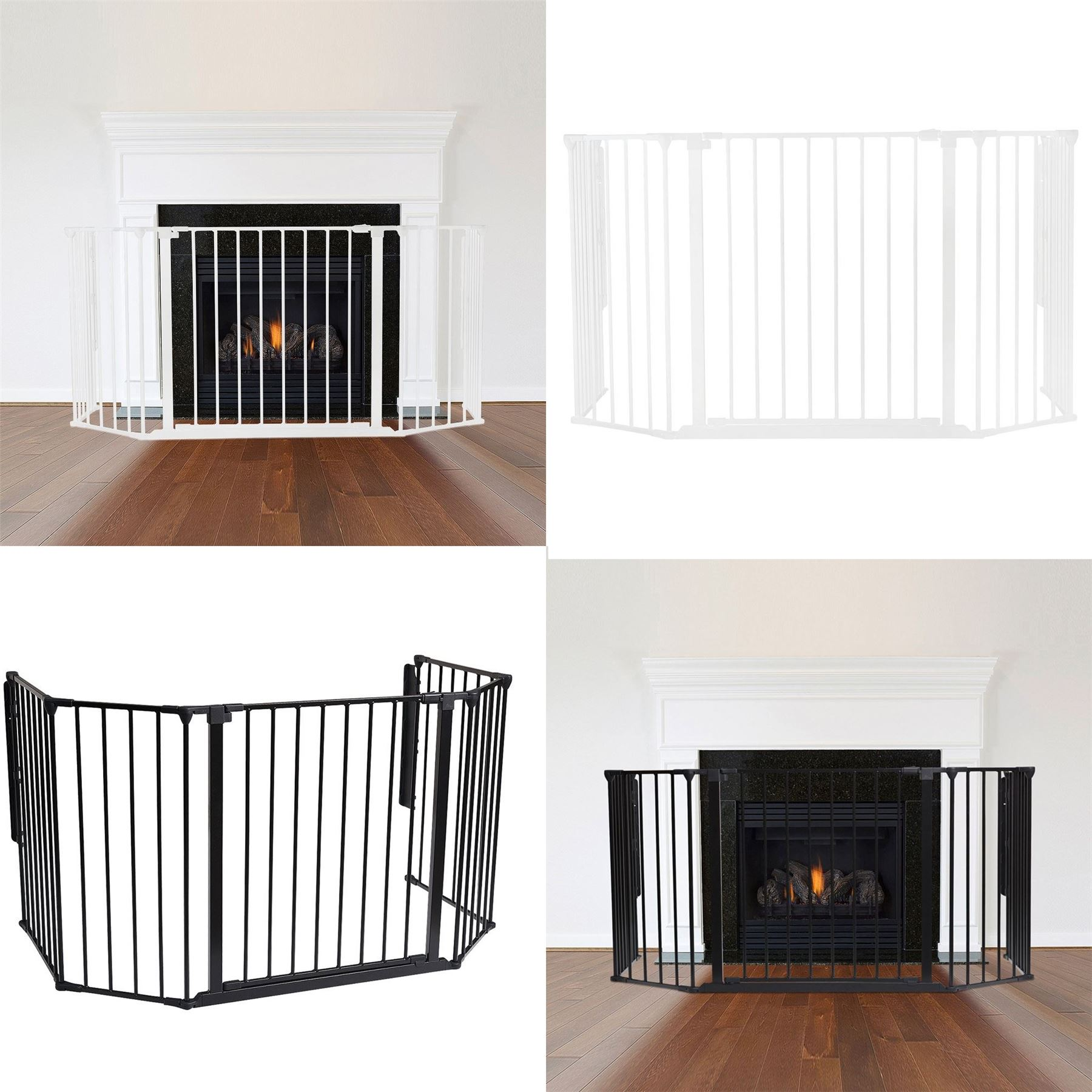 20cm Extension Safetots Wooden Multi Panel Fire Surround Extensions