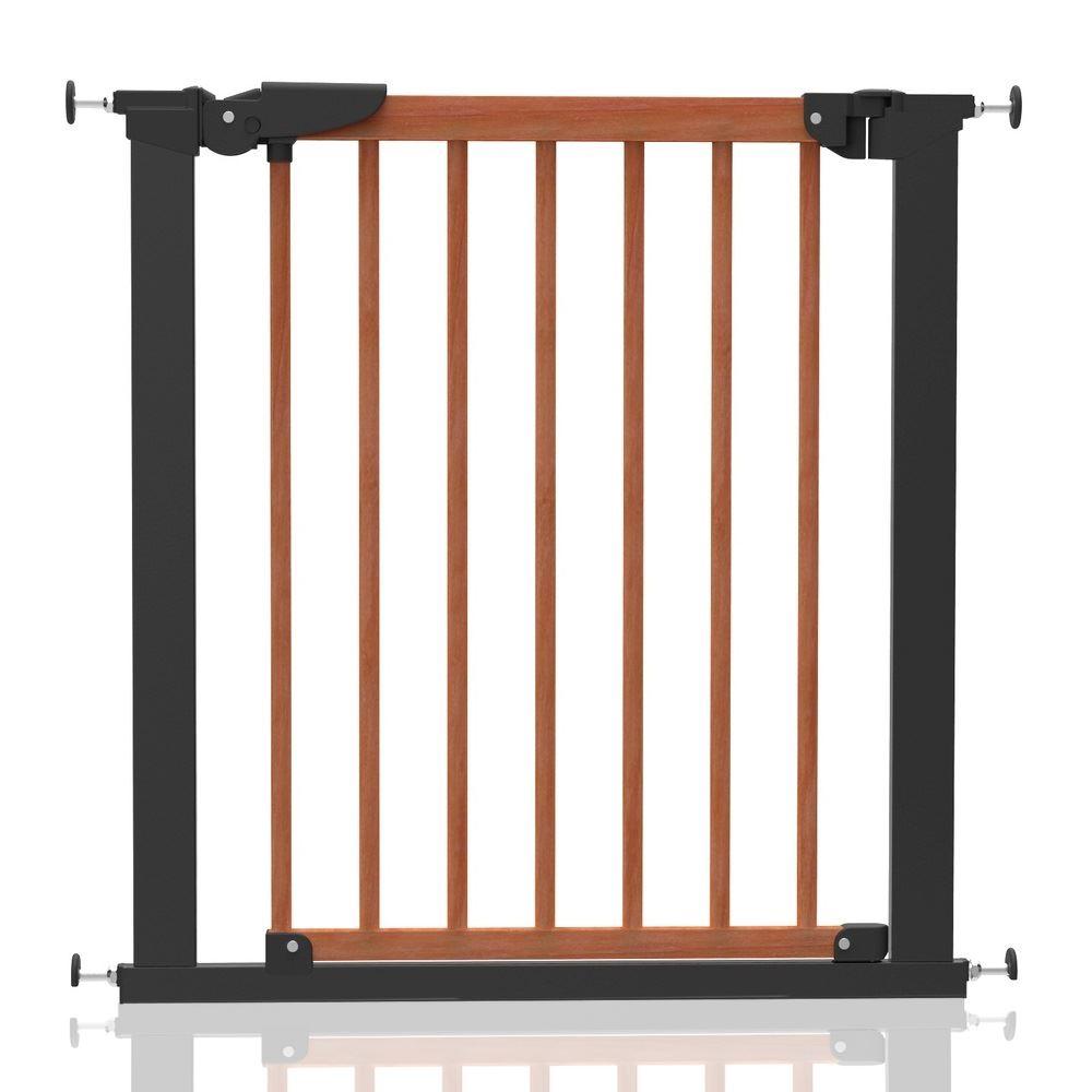 Babydan Avantgarde Stair Gate Pressure Fix Wooden Baby Gate Cherry
