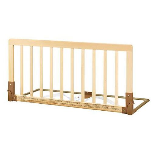 BabyDan Double Sided Kids Wooden Bed Rail Toddler Guard Natural Wood