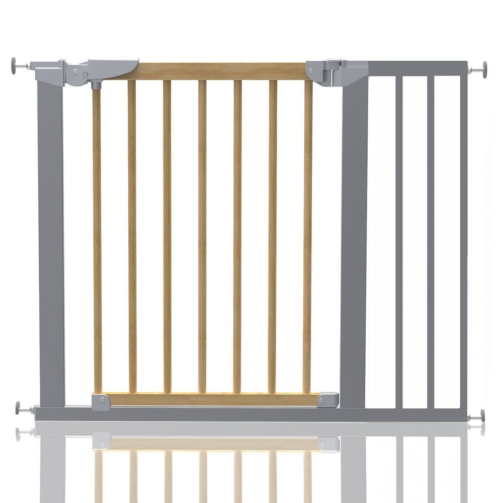 Safetots Chunky White Wooden Stair Gate 63.5-105.5cm Wooden Baby Gate