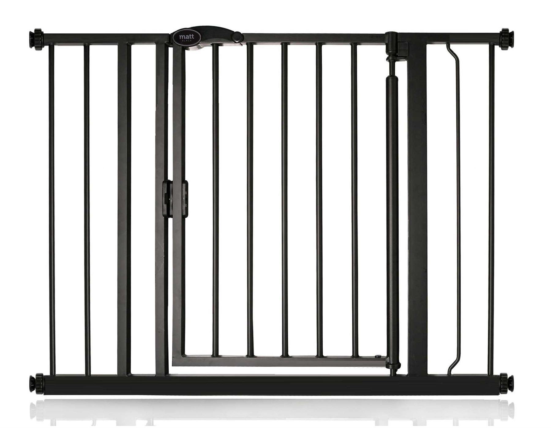 safetots auto close barri re de s curit pour escaliers portes noir mat 61 162cm ebay. Black Bedroom Furniture Sets. Home Design Ideas