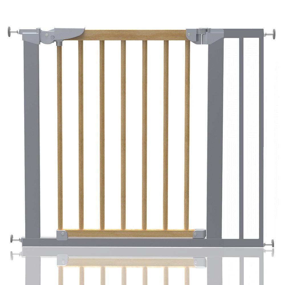 Safetots Premium Pressure Fit Wooden Stair Gate Wood
