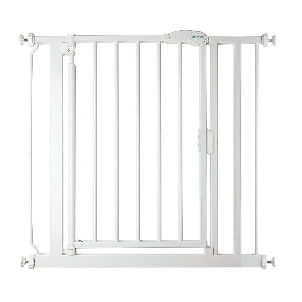 Safetots Self Closing Baby Stair Gate Pressure Fit Safety Gate White