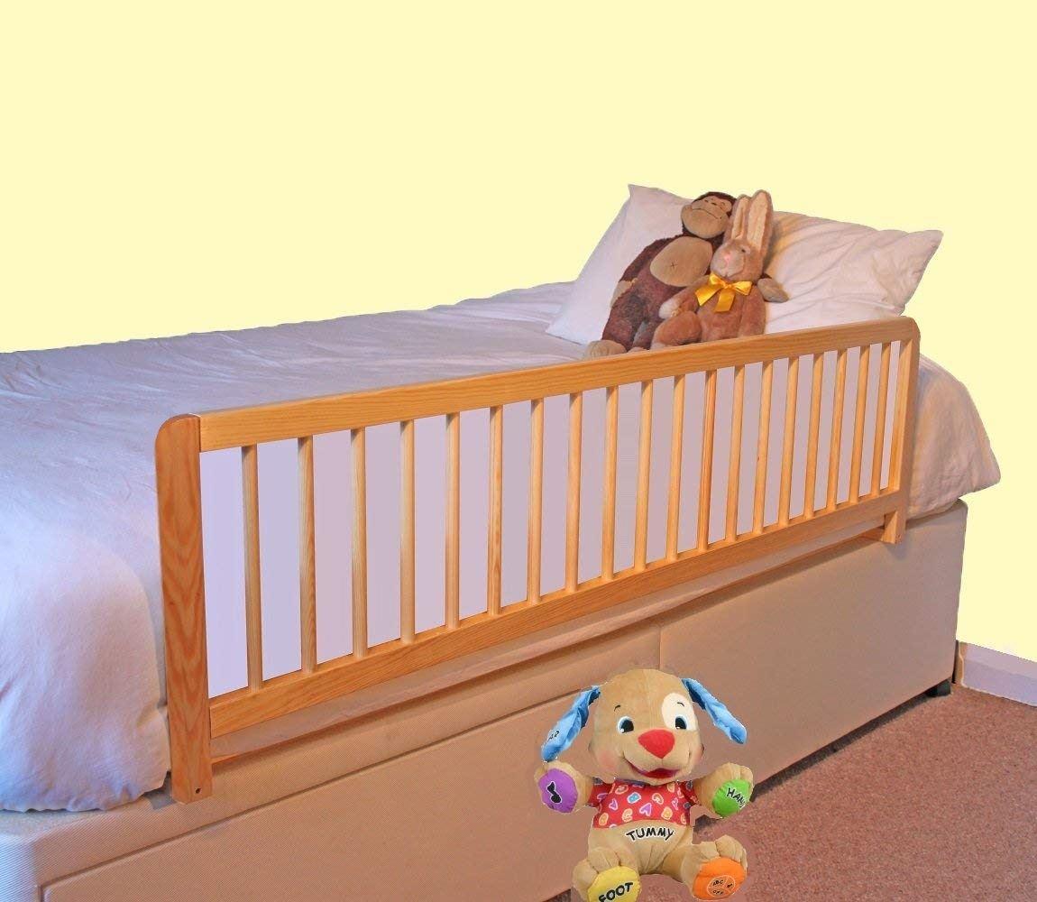 safetots xlarge barri re de lit en bois s curit pour lit. Black Bedroom Furniture Sets. Home Design Ideas
