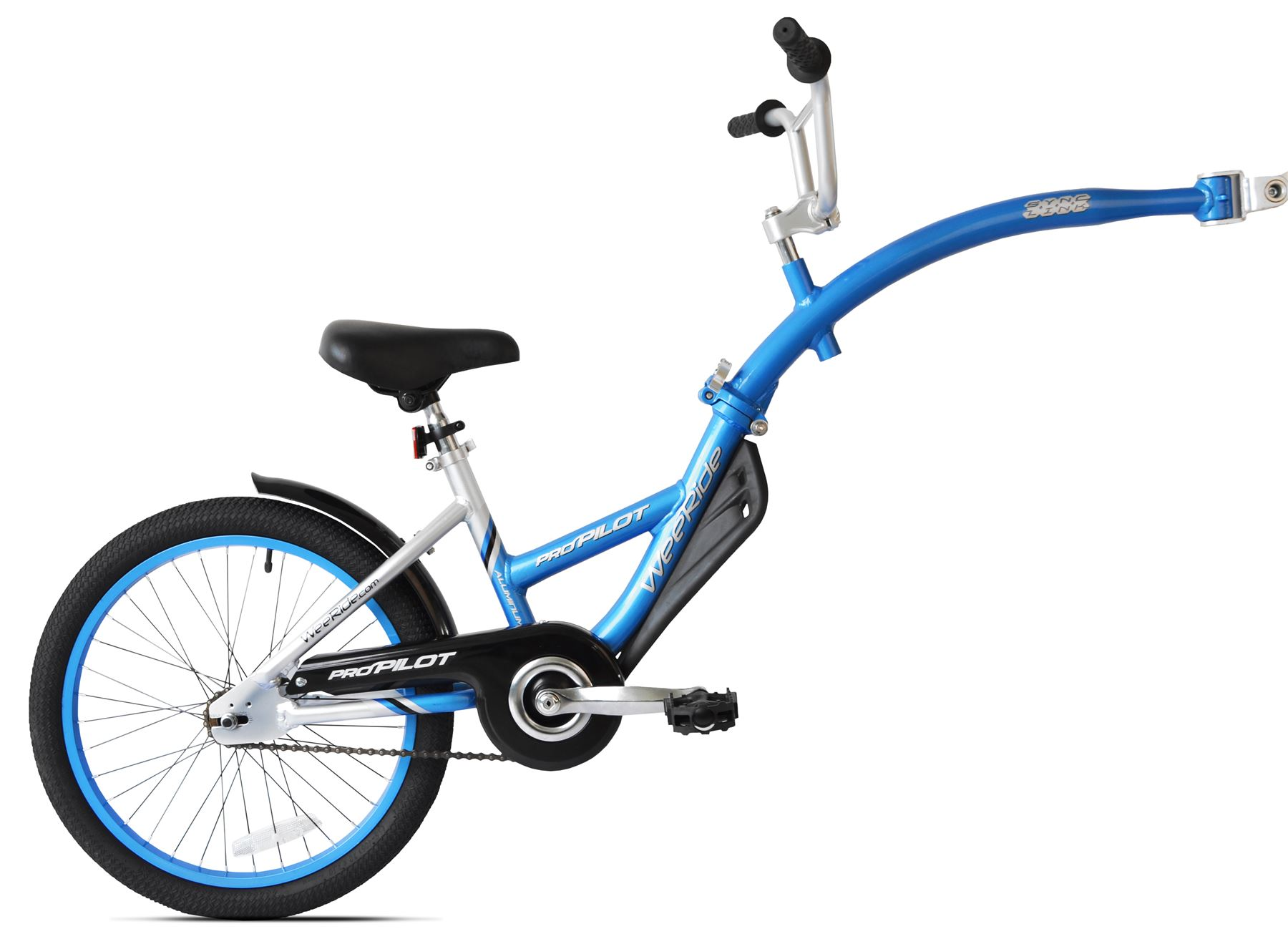 4100a17ccad WeeRide Pro Pilot Tagalong Blue Child Bike Extension Trailer Toddler Bicycle