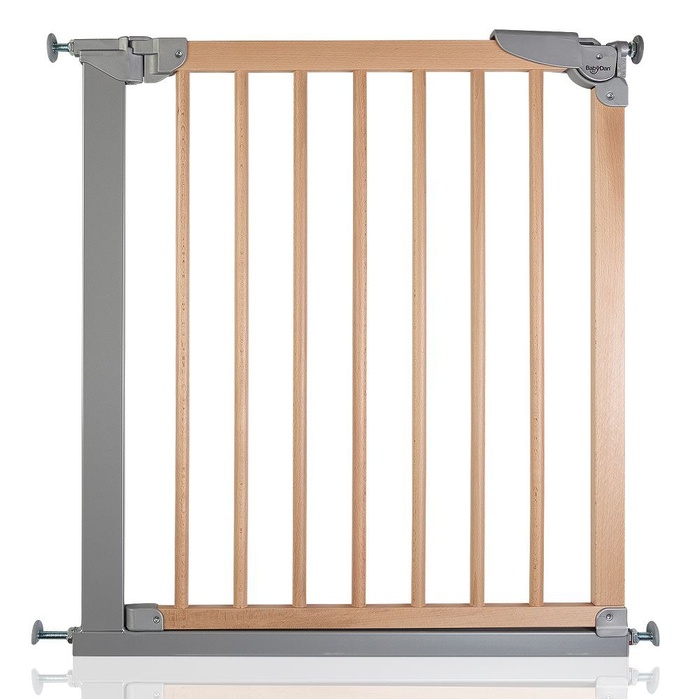 BabyDan Designer Pressure Fit Stair Gate Narrow Wooden