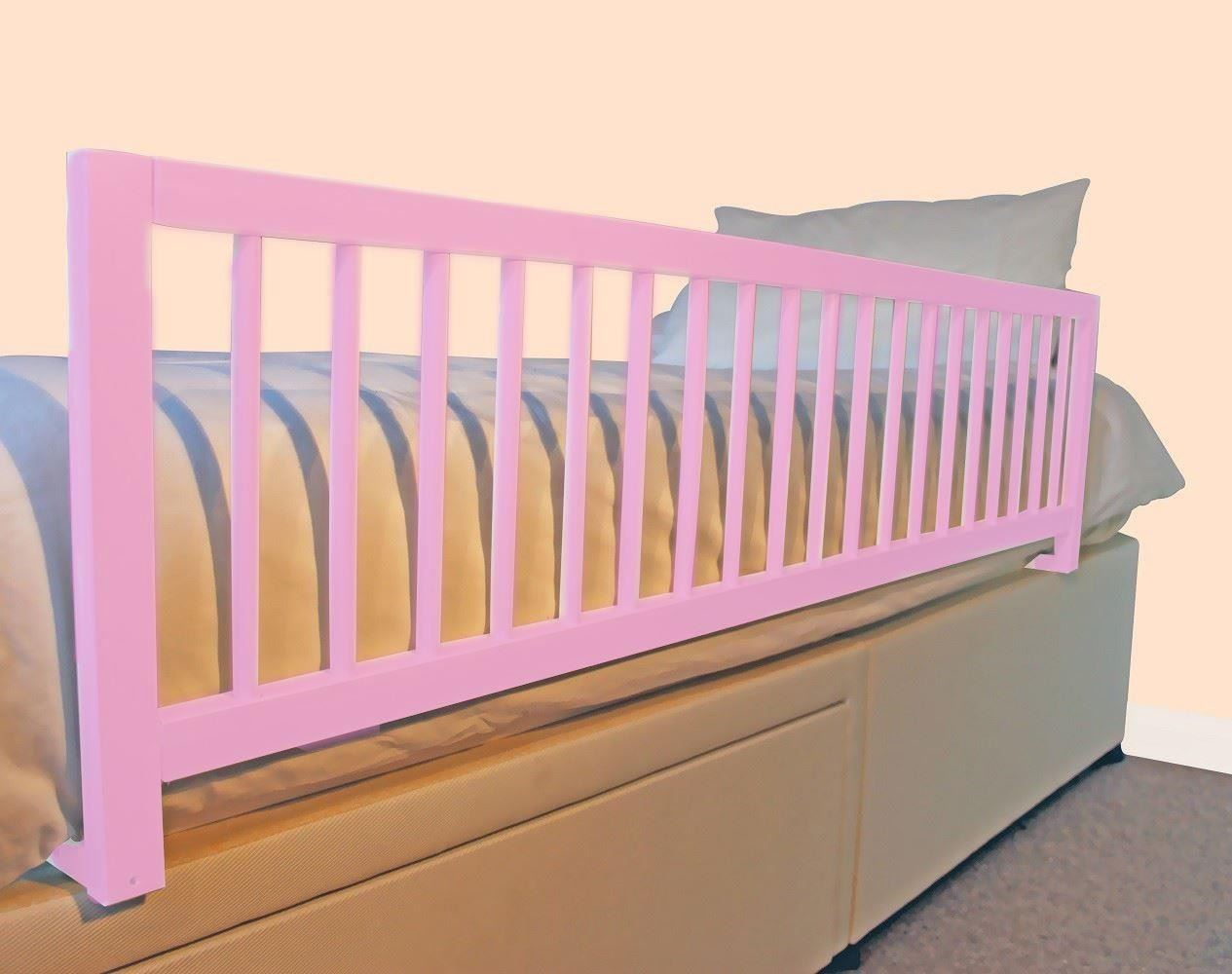 Safetots Extra Wide Long Wooden Bed Rail Girls Deluxe Toddler Bed