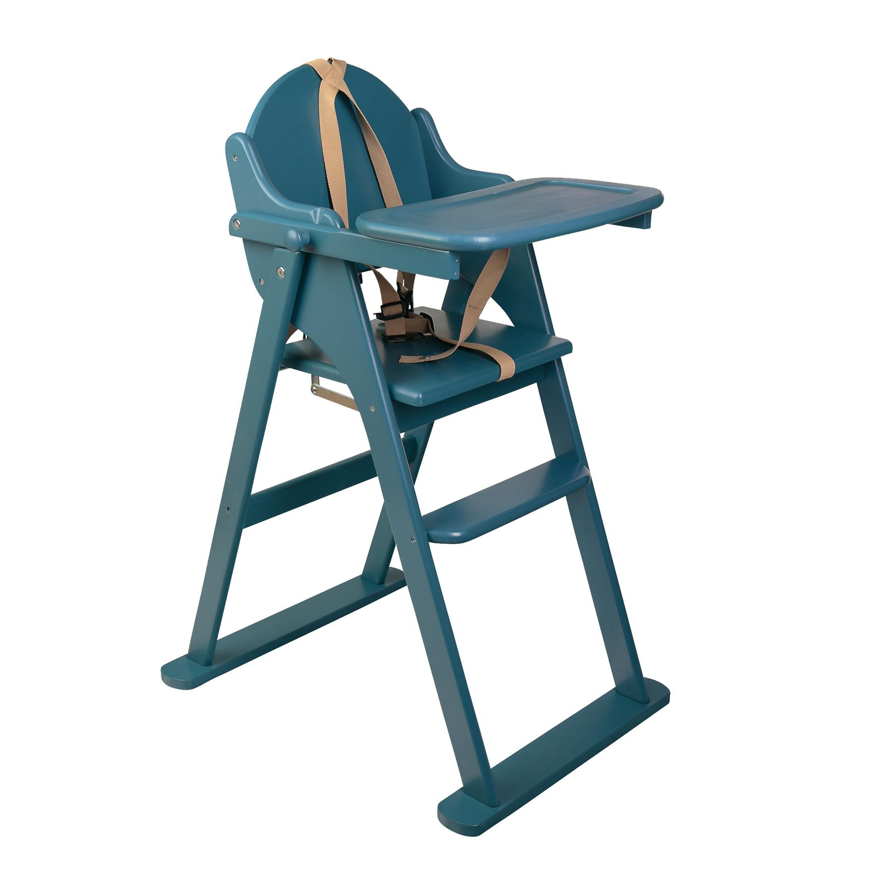 Safetots Putaway Folding Wooden Highchair Easy Store Baby ...