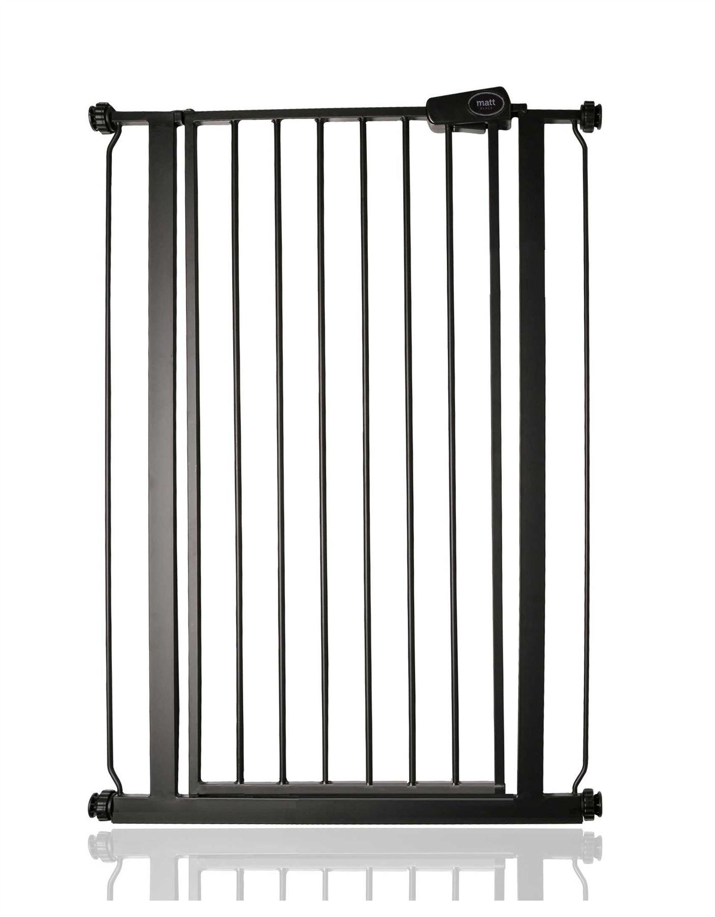 Safetots Enfant Et Animal Barrière De Sécurité Extra Haute Noire Mat 75-147,4cm