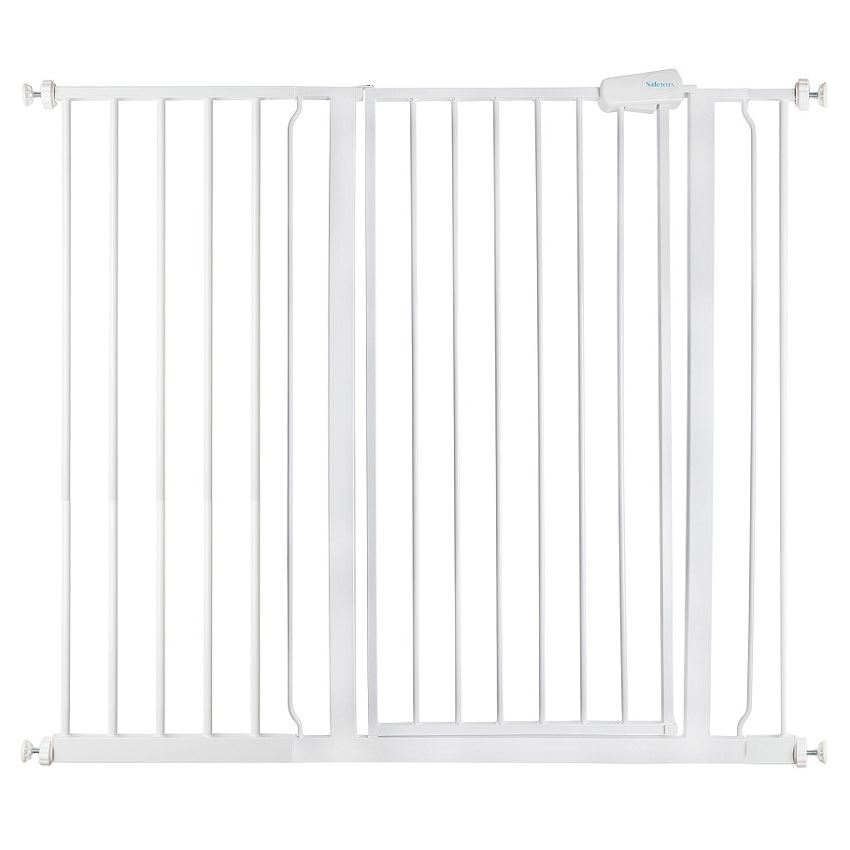 Safetots Extra Tall Pet Stair Gate White Dog