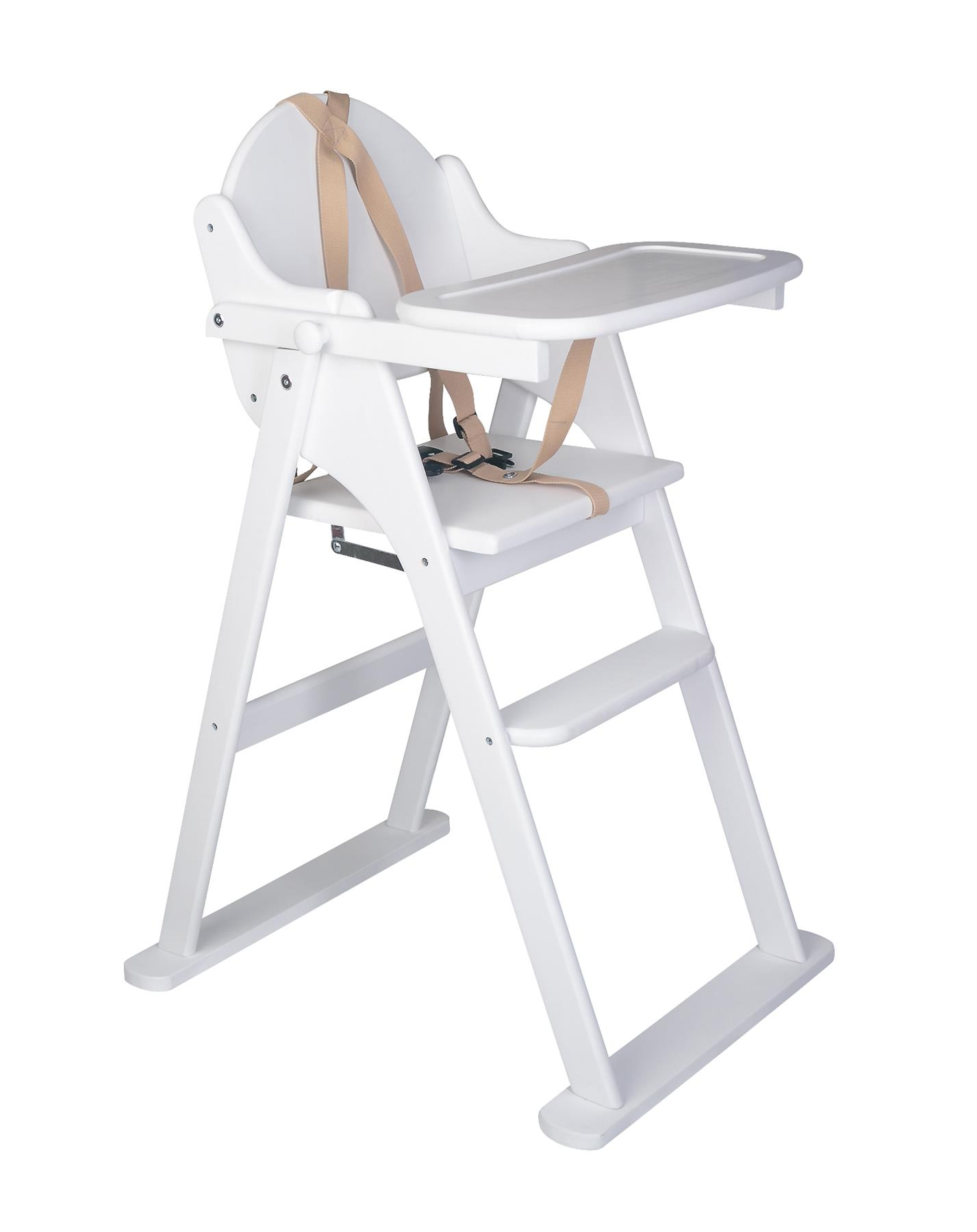 Safetots Folding Wooden Putaway High Chair Dark Wood