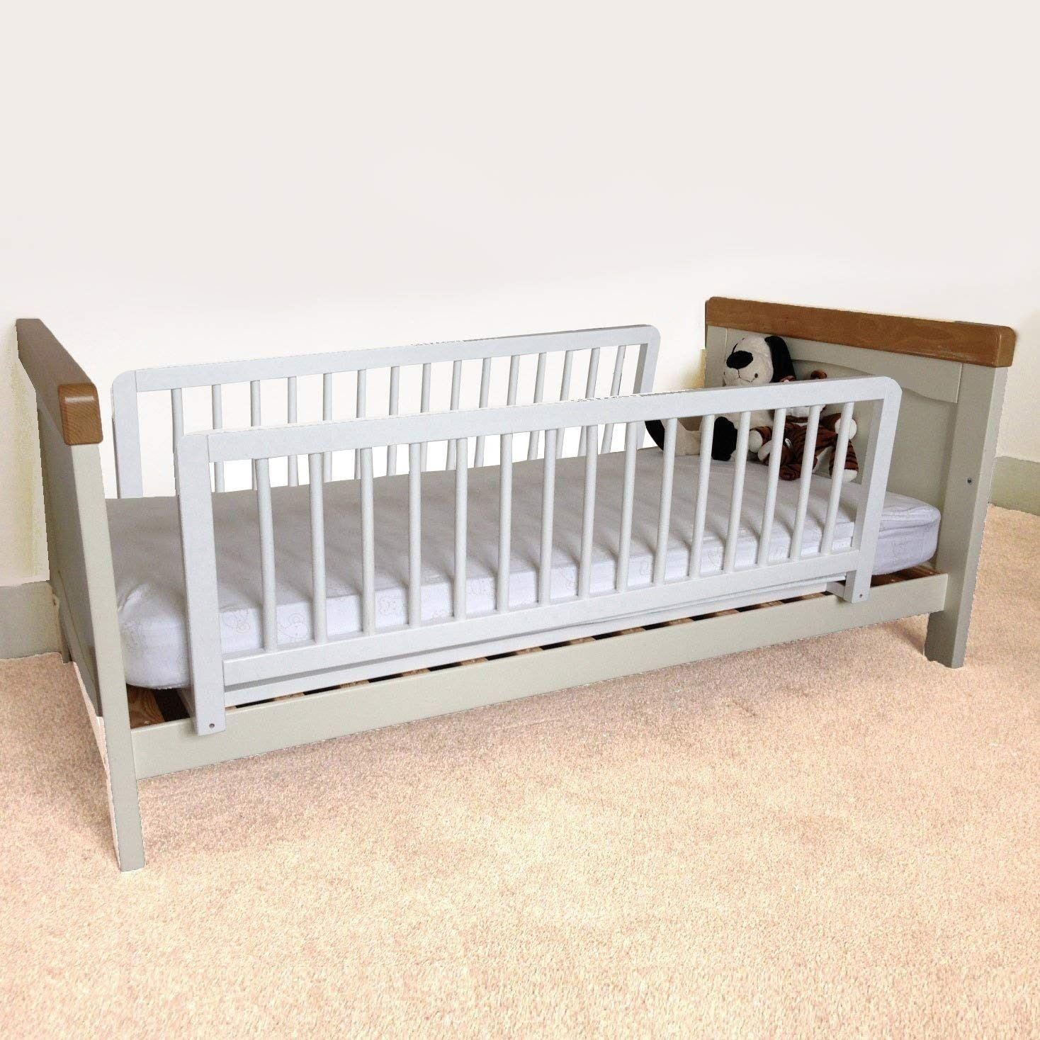 Safetots Double Sided Kids Wooden Bed Rail Toddler Bed Guard White Wood 5060338468168 Ebay