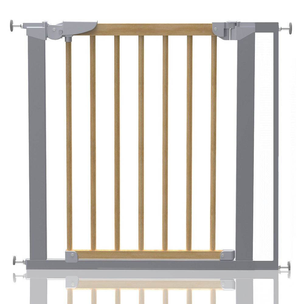 Safetots Premium Pressure Fit Wooden Stair Gate Wood Baby Gate 71 3