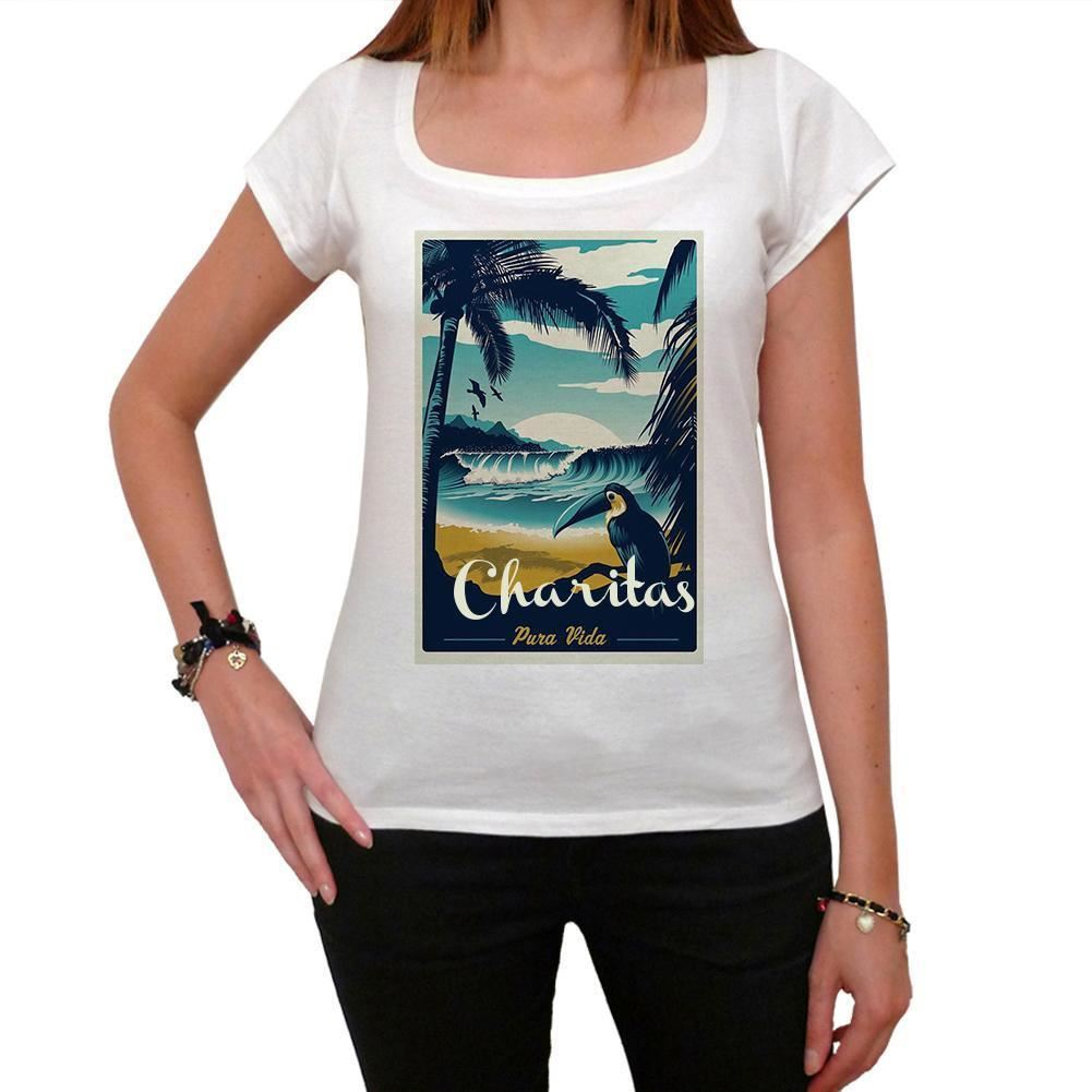 Charitas, Pura Vida, Beach Name Womens Printed Cool T shirt White ...