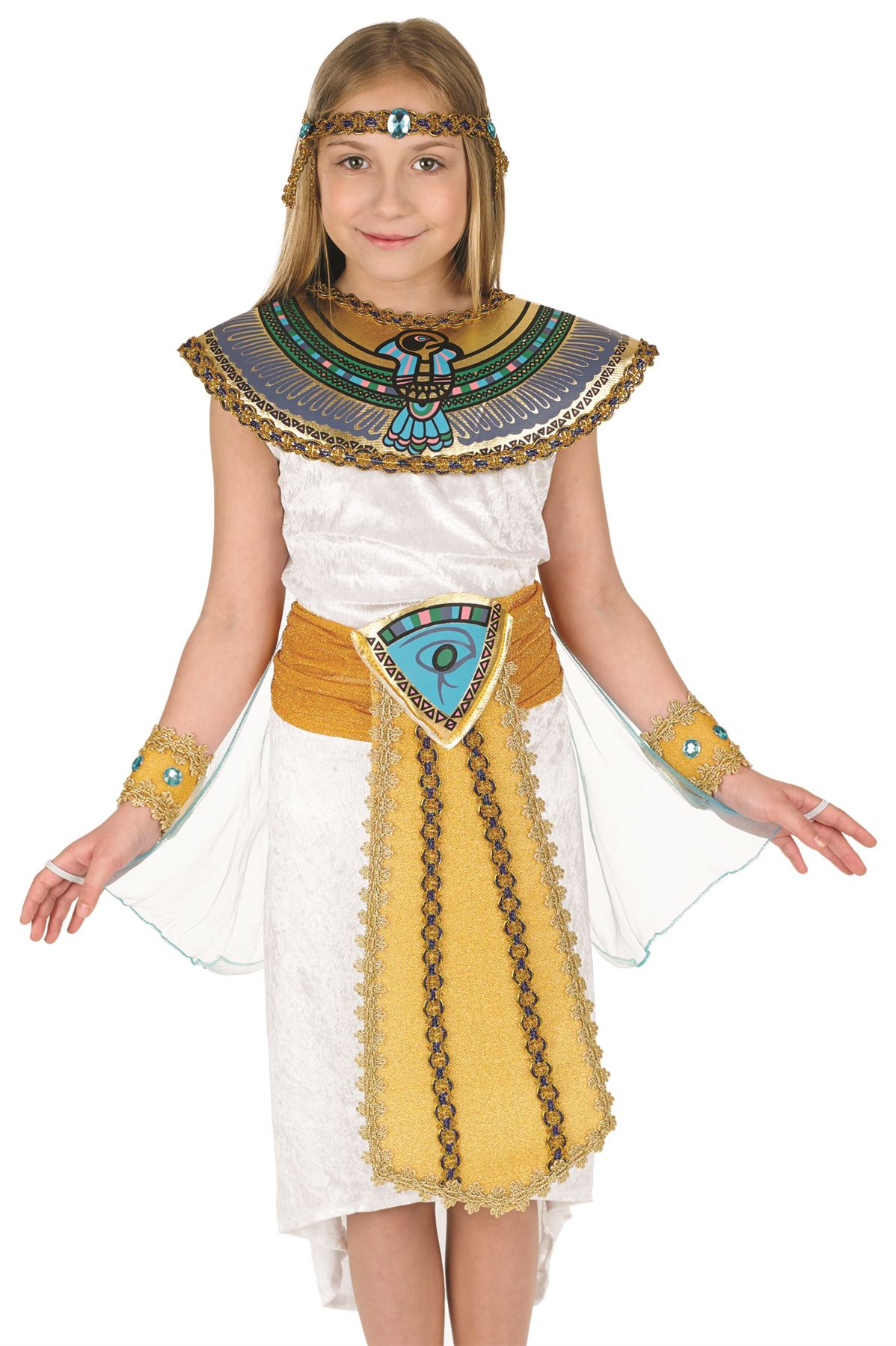 Girls-Egyptian-Girl-Queen-Cleopatra-Child-Fancy-Dress-  sc 1 st  eBay & Girls Egyptian Girl Queen Cleopatra Child Fancy Dress Costume Book ...